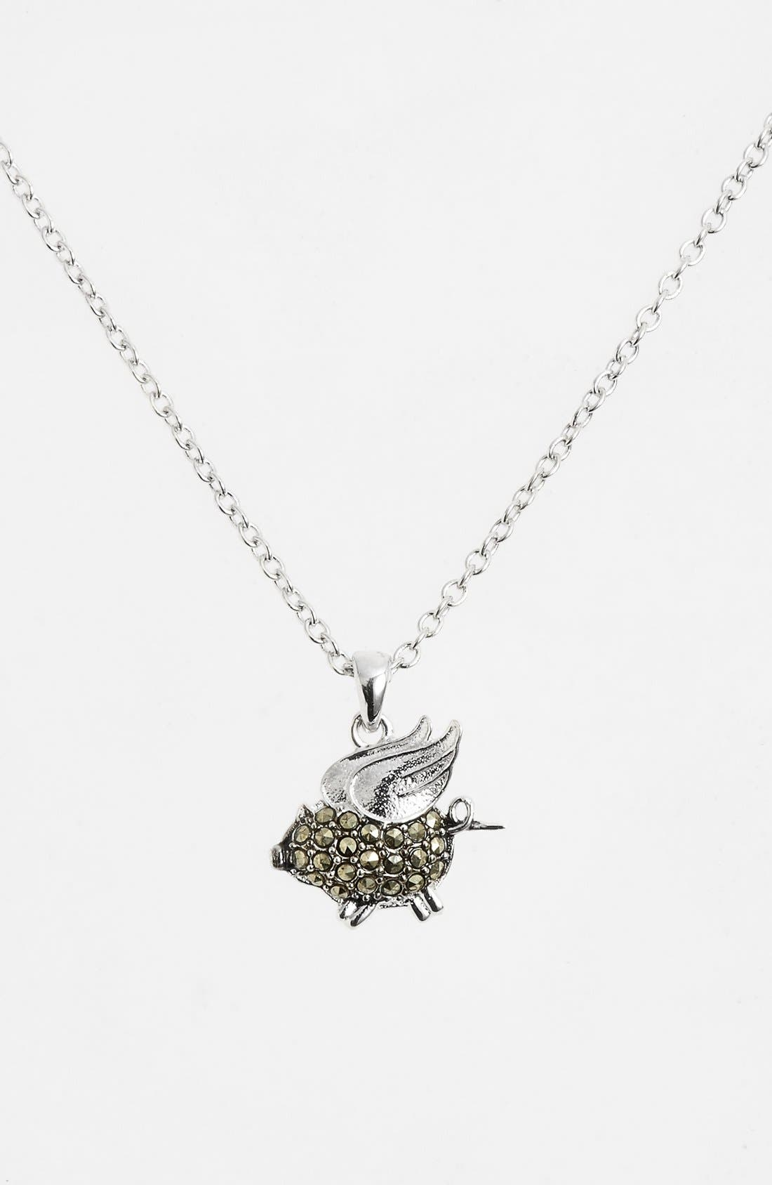 Main Image - Judith Jack 'Charmed Life' Boxed Pig Pendant Necklace