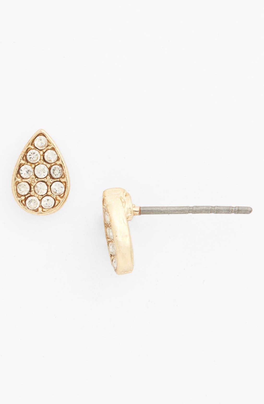 Main Image - BP. Pavé Teardrop Stud Earrings