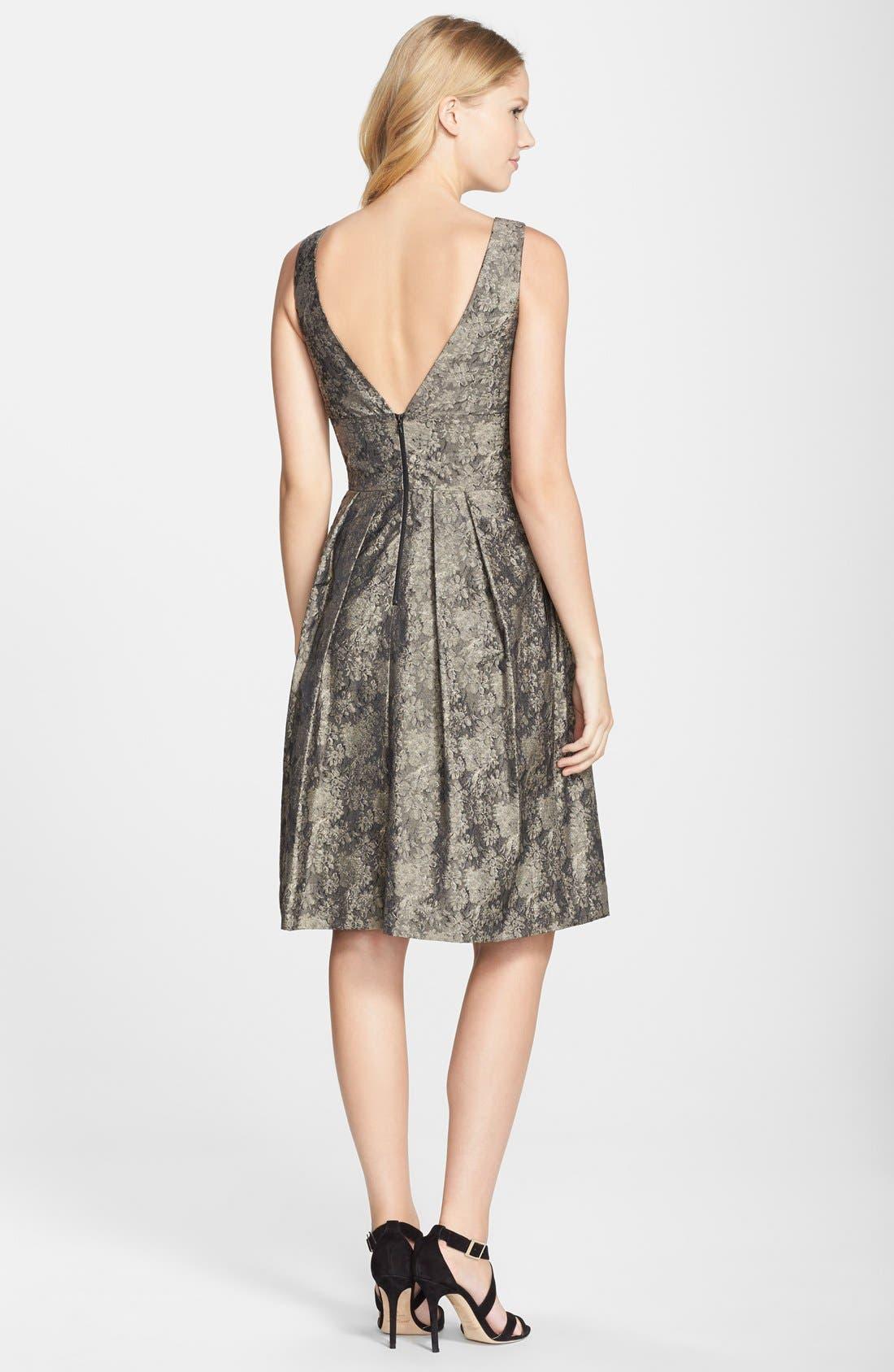 Alternate Image 2  - Vera Wang Jacquard Fit & Flare Dress