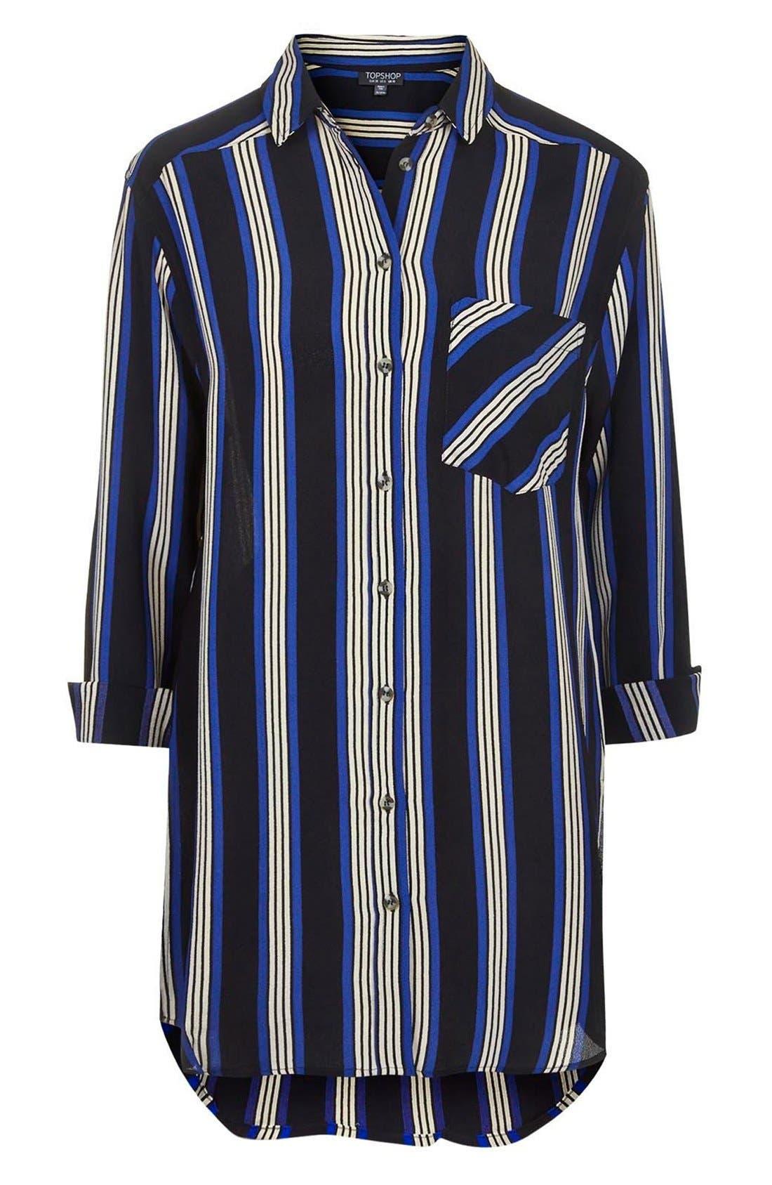 Alternate Image 3  - Topshop Oversize Stripe Shirt