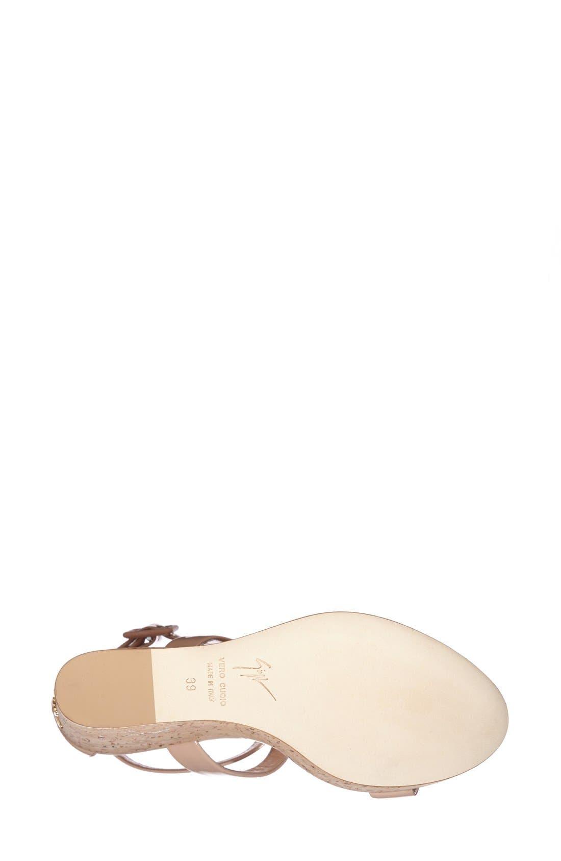 Alternate Image 4  - Giuseppe Zanotti 'Roz' Platform Wedge Sandal (Women)