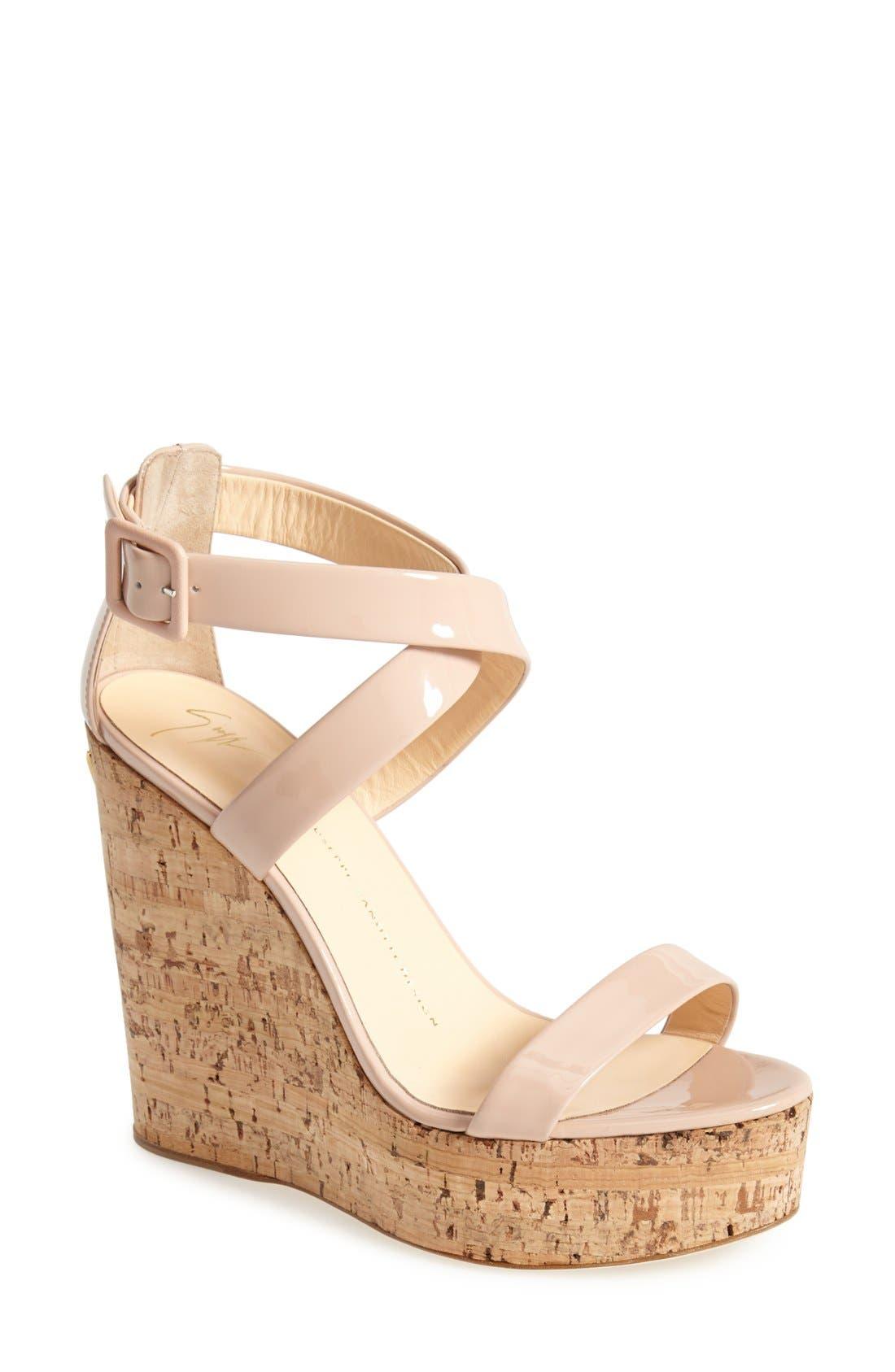 Alternate Image 1 Selected - Giuseppe Zanotti 'Roz' Platform Wedge Sandal (Women)