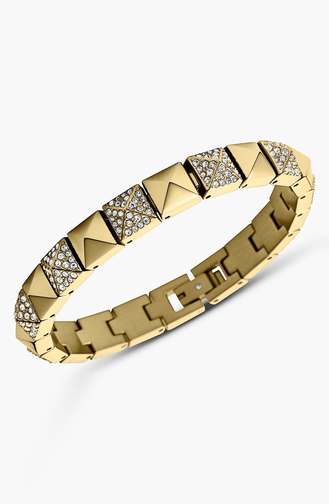 Alternate Image 1 Selected - Michael Kors Pyramid Stud Line Bracelet