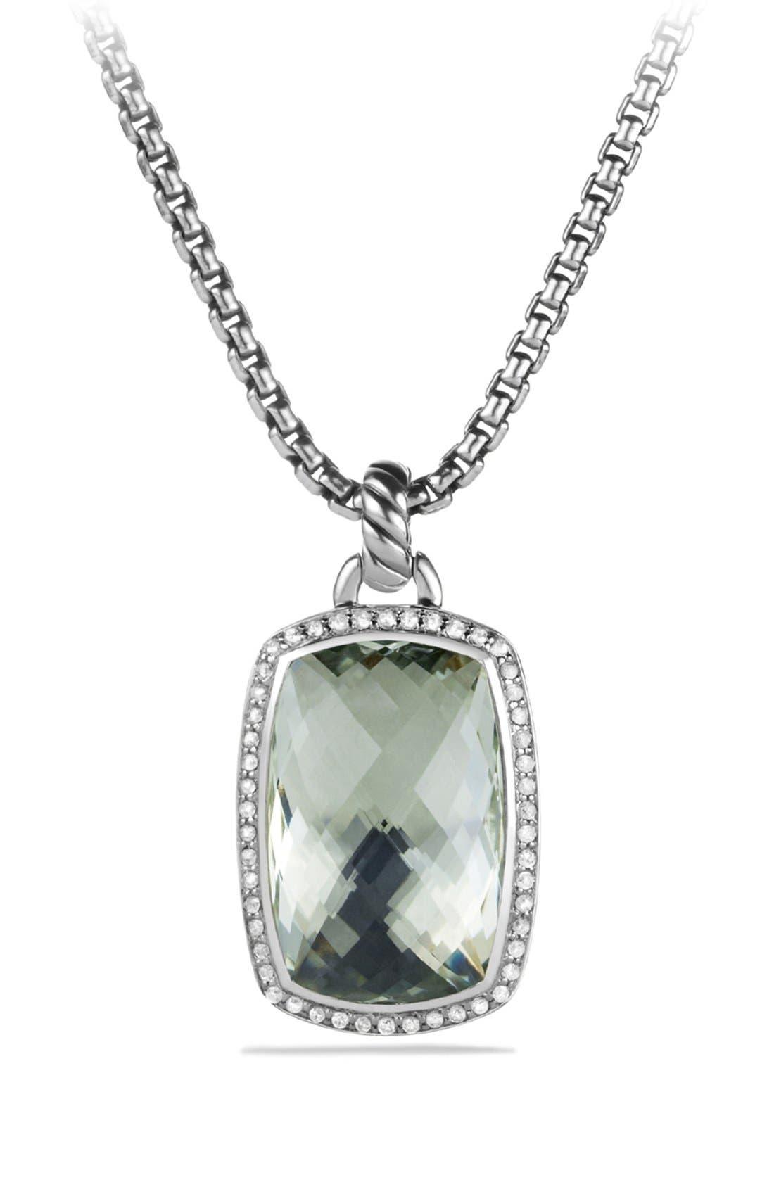 David Yurman 'Albion' Pendant with Semiprecious Stone and Diamonds