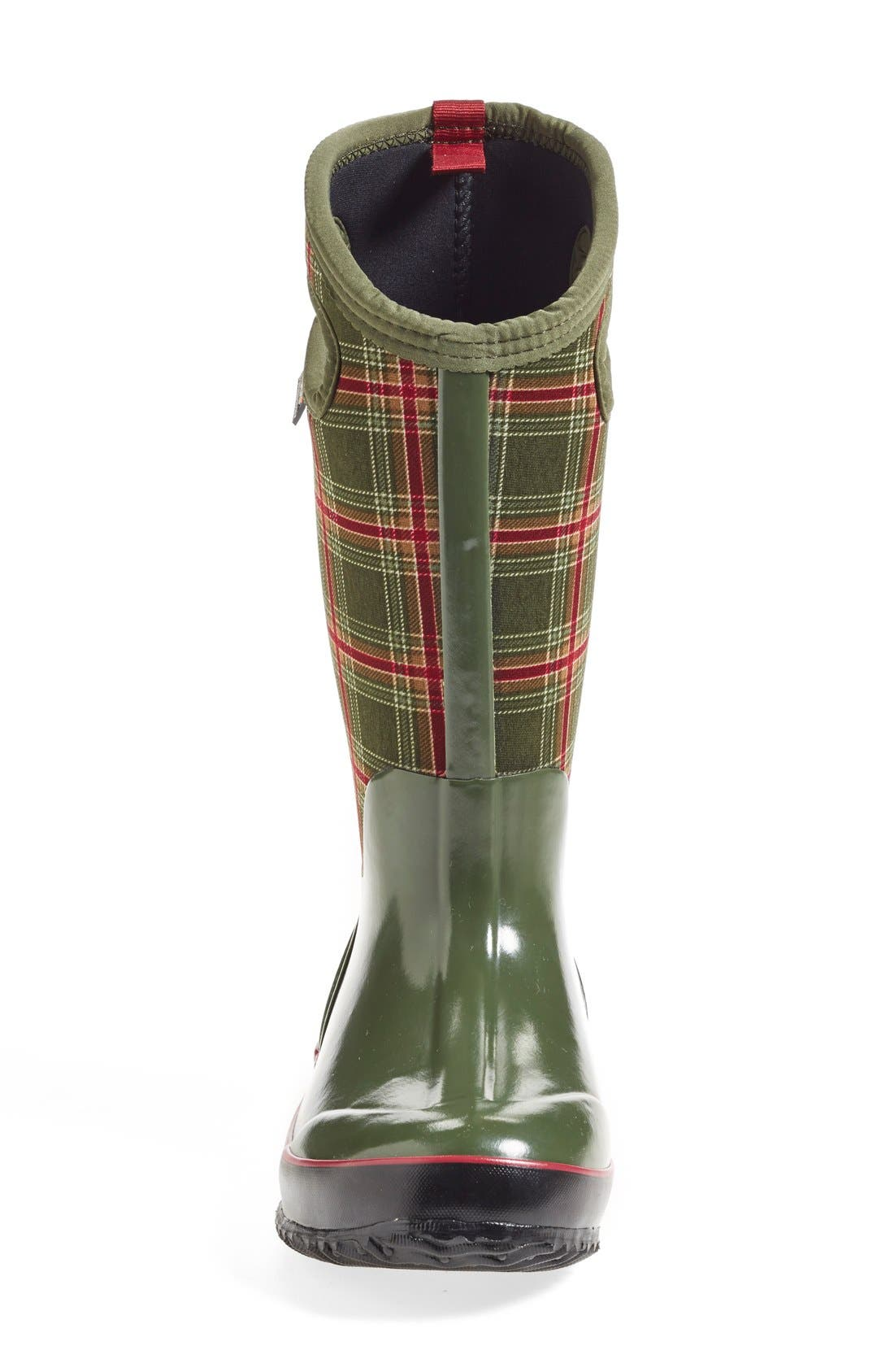Alternate Image 3  - Bogs 'Classic Winter Plaid' Tall Waterproof Snow Boot with Cutout Handles (Women)