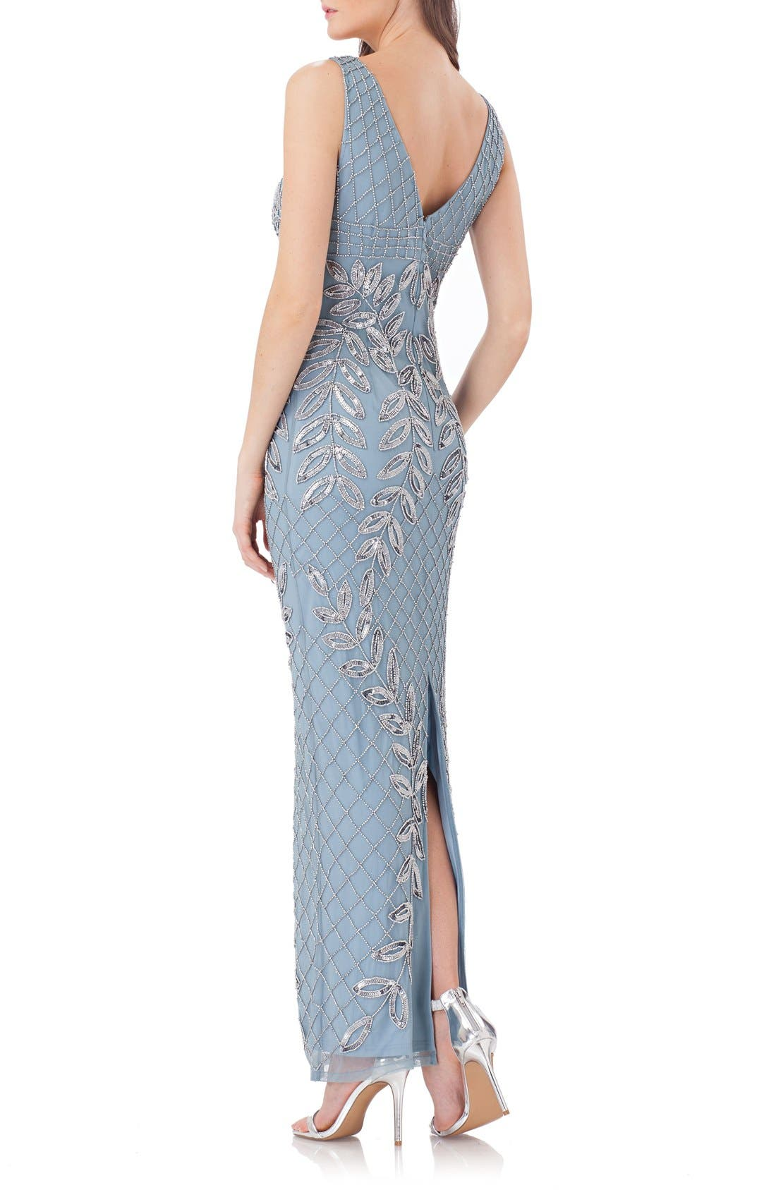 Alternate Image 2  - JS Collections Embellished Column Gown