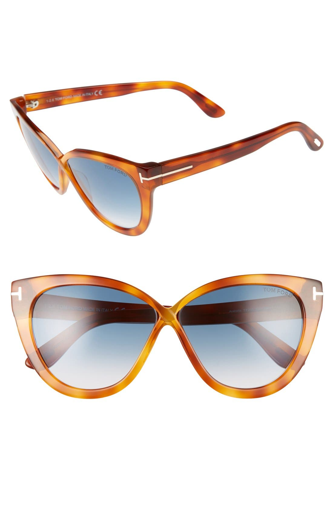 Main Image - Tom Ford Arabella 59mm Cat Eye Sunglasses