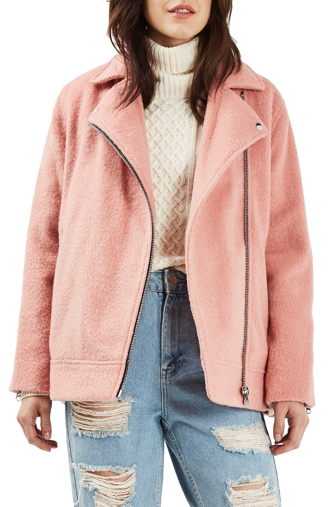 Alternate Image 1 Selected - Topshop Biker Jacket