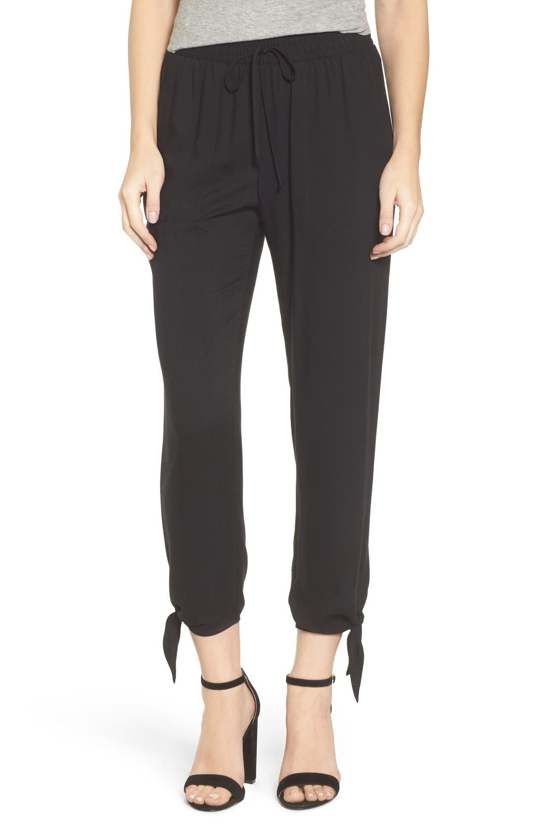 Alternate Image 1 Selected - Socialite Ankle Tie Pants