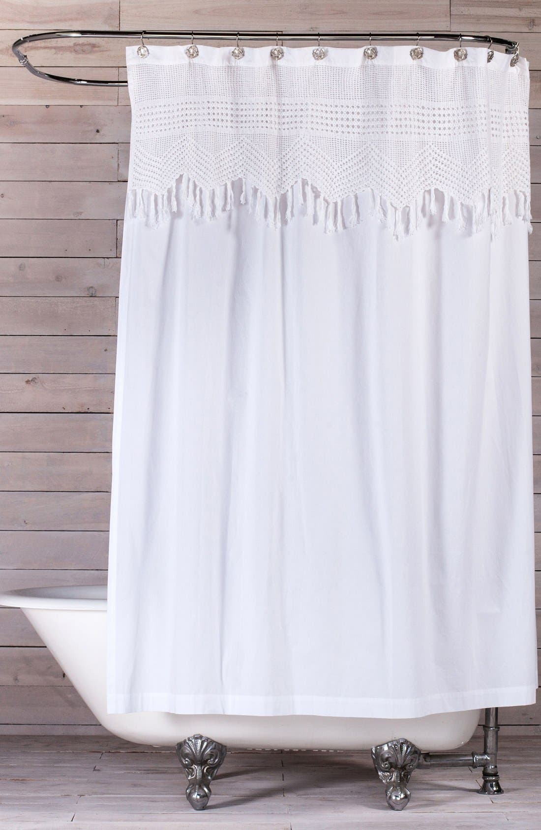 Pom Pom at Home Vintage Crochet Shower Curtain
