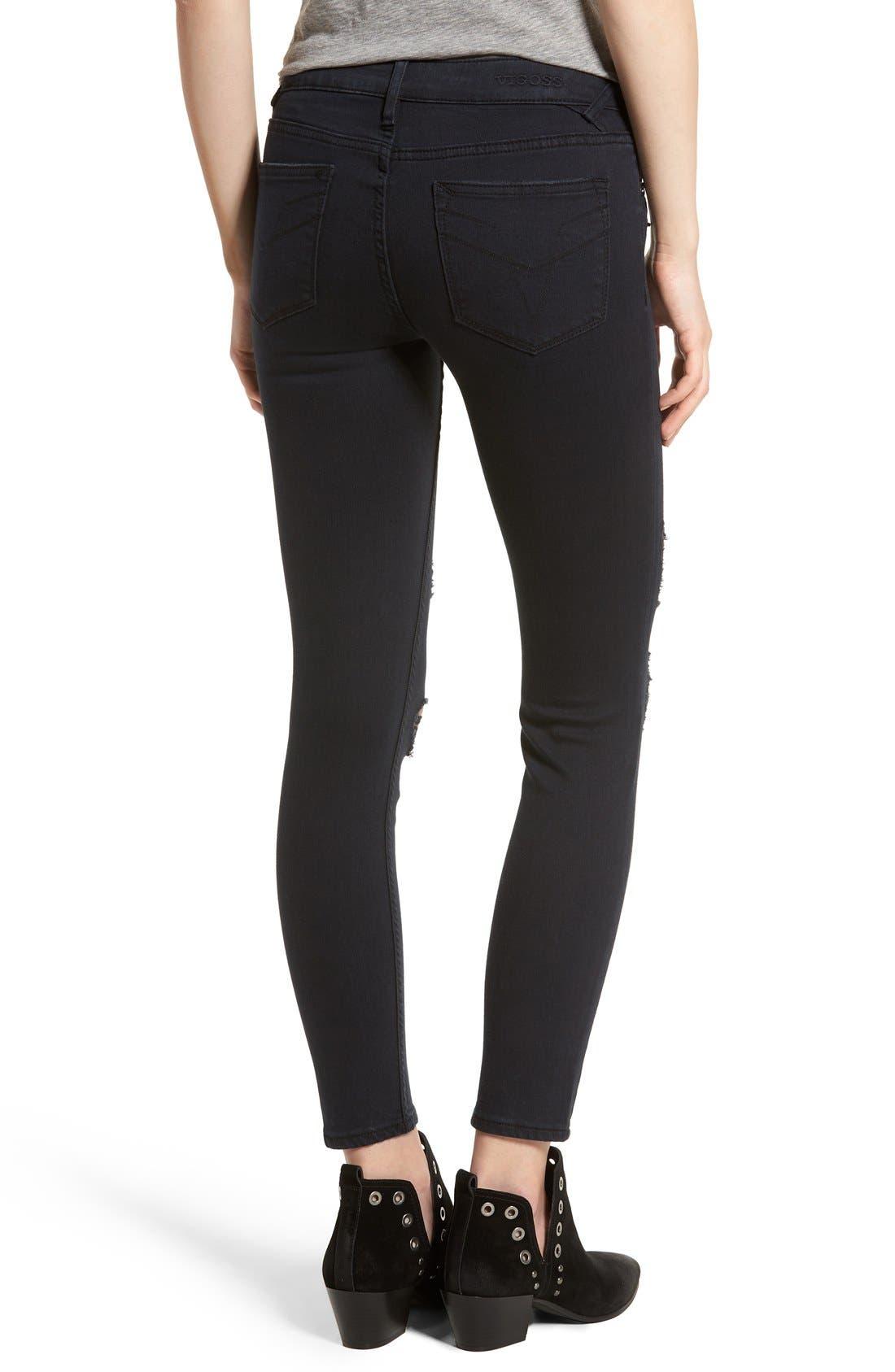 Alternate Image 2  - Vigoss Distressed Zip Skinny Jeans
