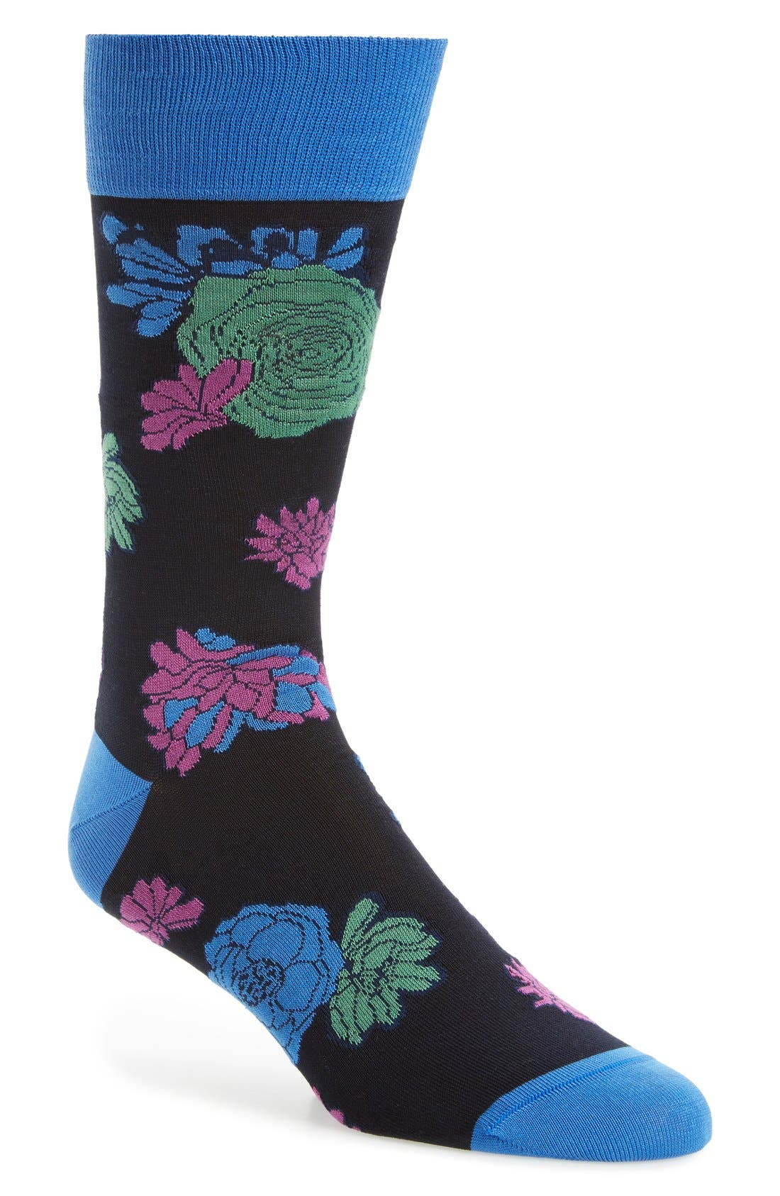 BUGATCHI Flower Power Socks