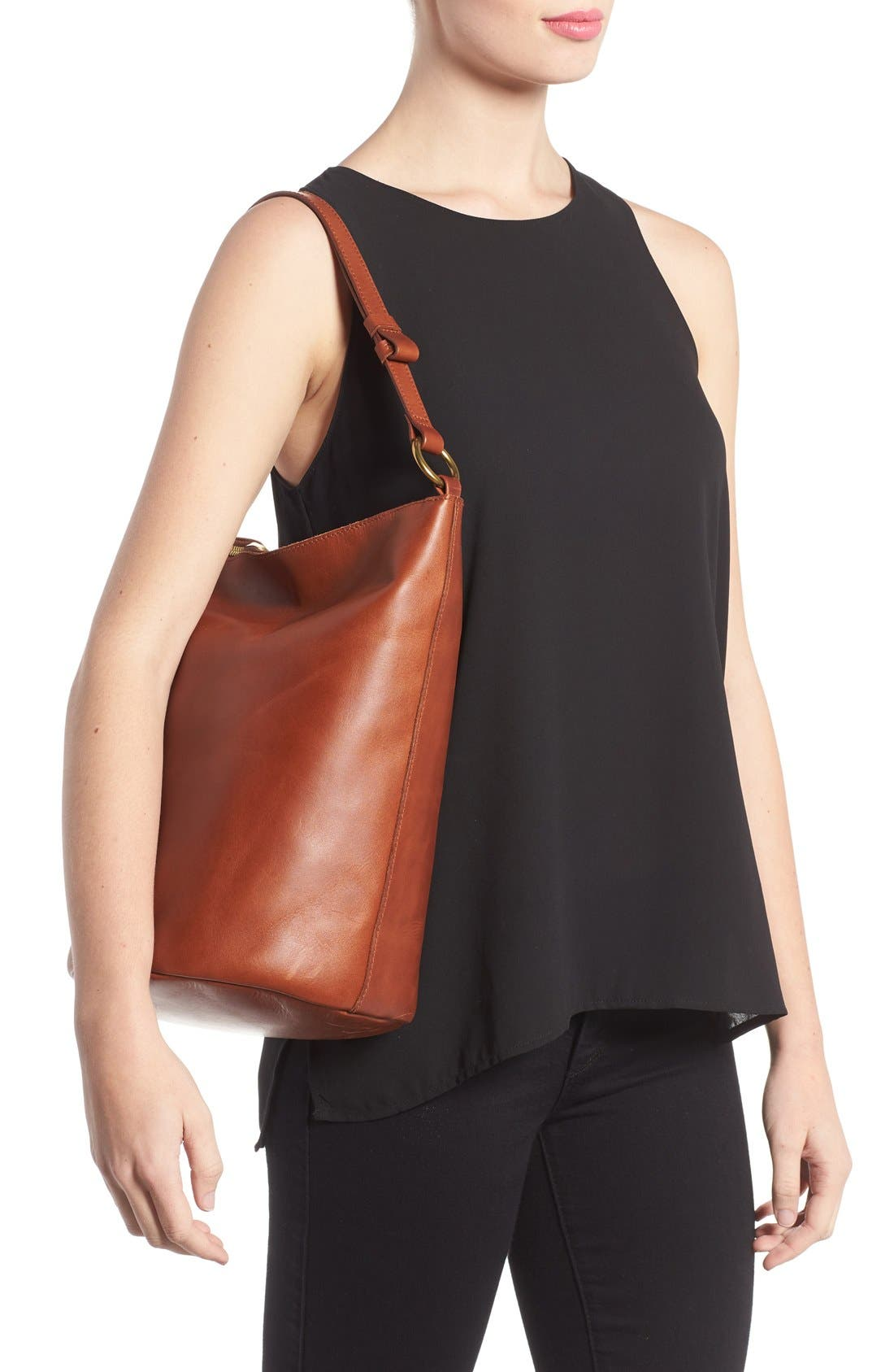 Alternate Image 2  - Madewell O-Ring Leather Bucket Bag