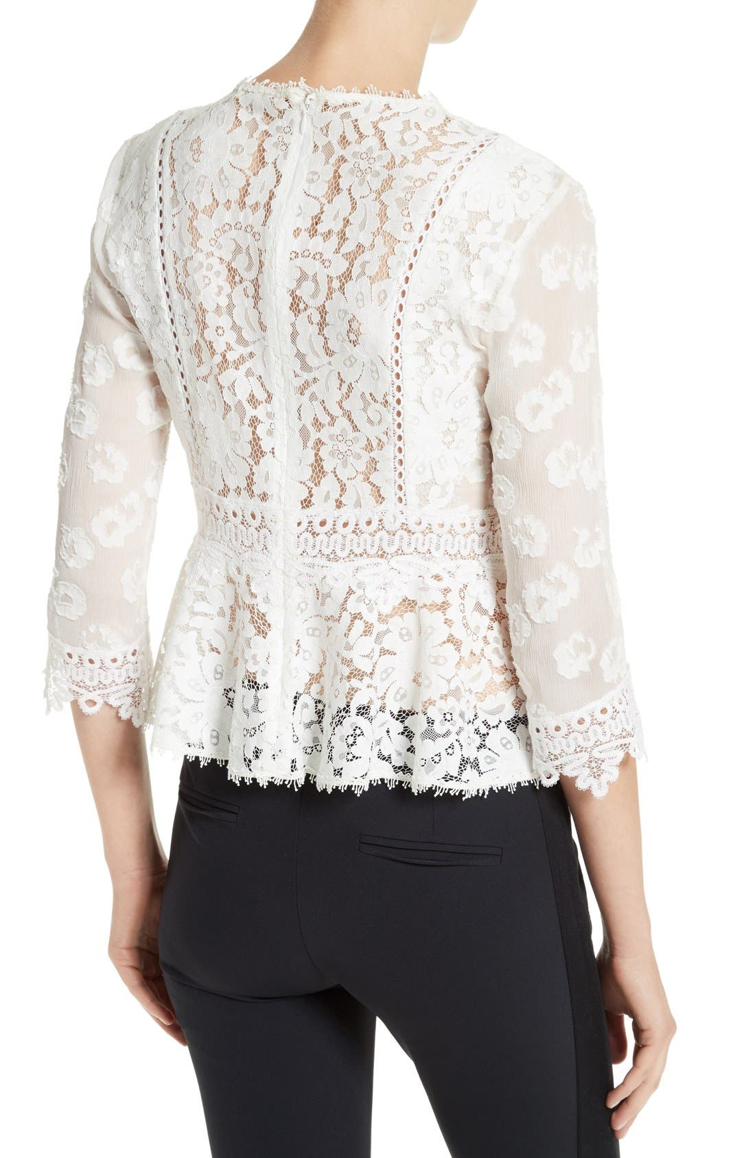 Alternate Image 2  - Rebecca Taylor Mix Lace Top
