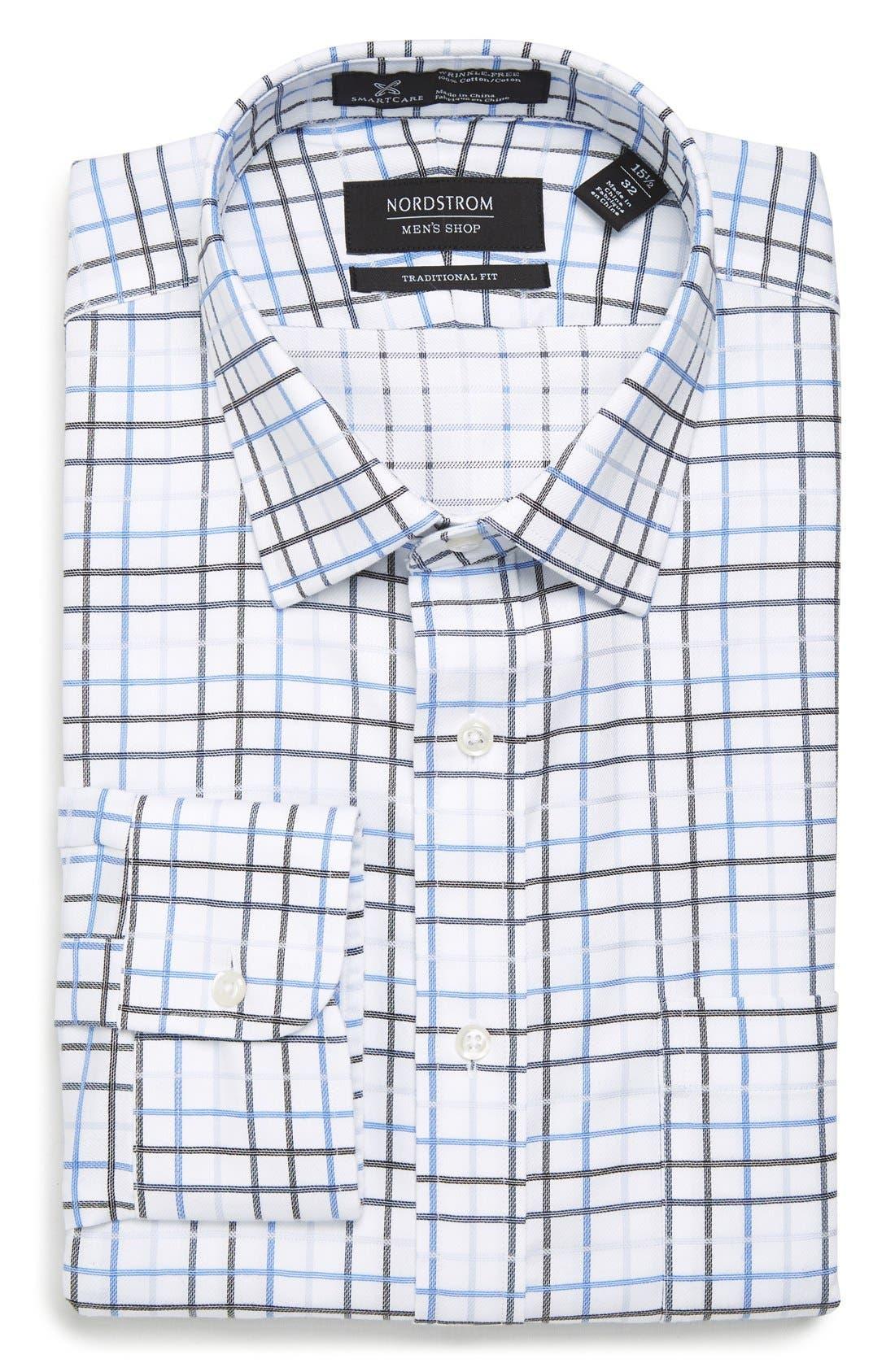 NORDSTROM MEN'S SHOP Smartcare™ Traditional Fit Check Dress