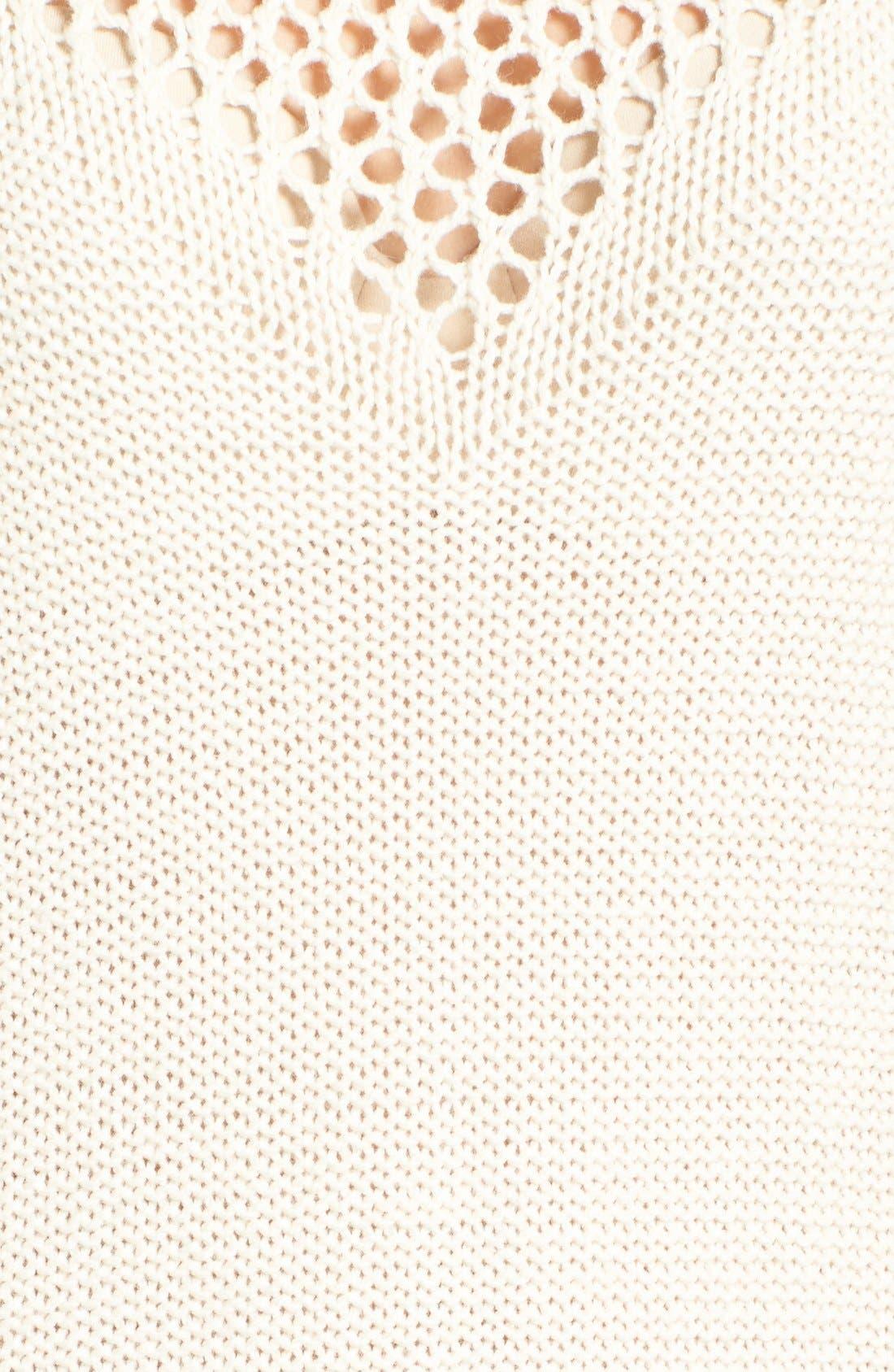 Alternate Image 5  - Roxy Borrowed Time Open Knit Sweater Dress