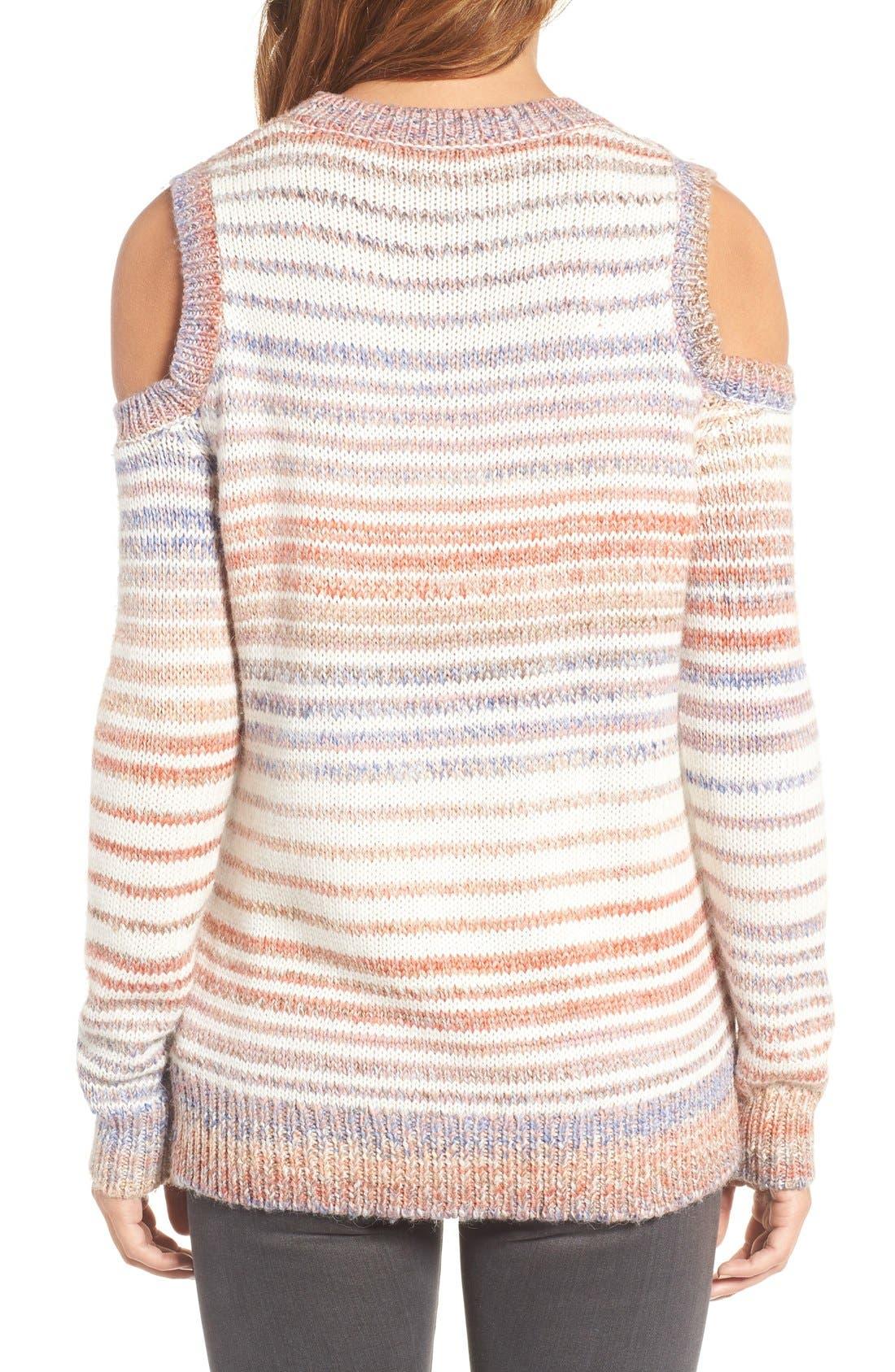 Alternate Image 2  - Rebecca Minkoff Page Stripe Cold Shoulder Sweater