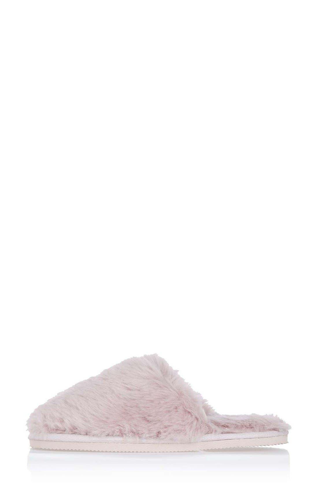 Alternate Image 3  - Topshop Furry Mule Slippers (Women)