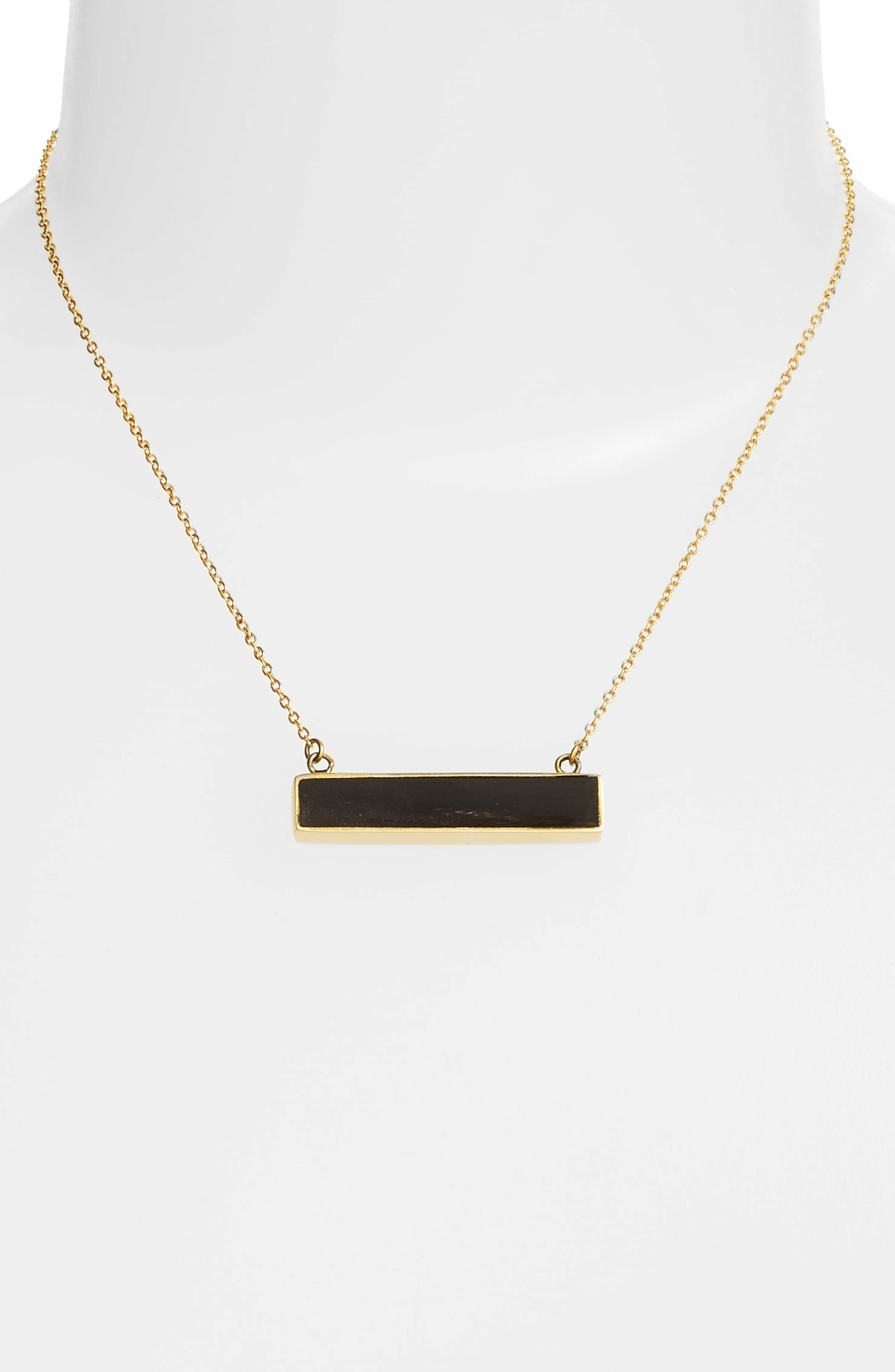 Alternate Image 2  - Soko Horizontal Horn Bar Pendant Necklace