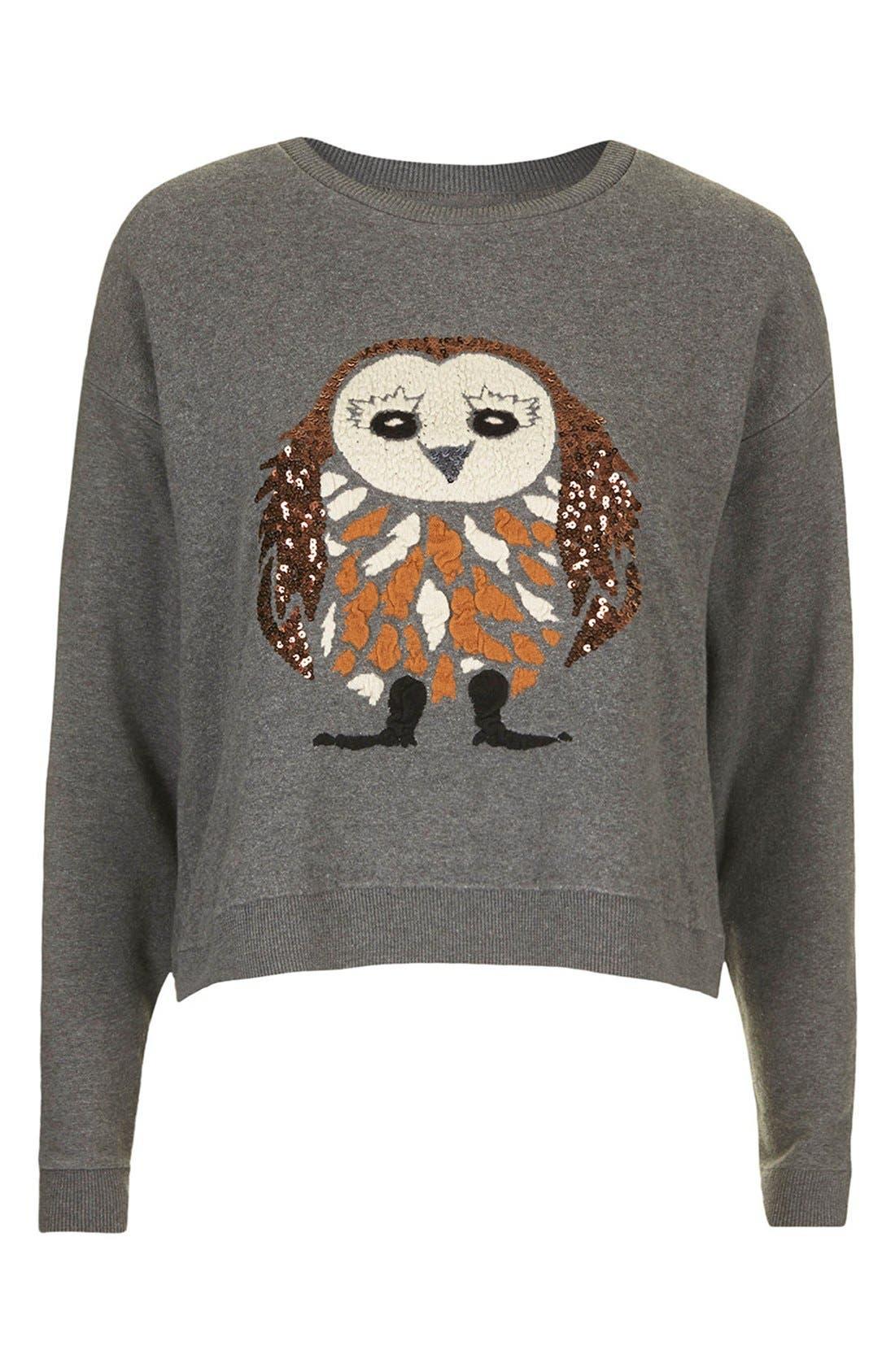 Alternate Image 5  - Topshop Sequin Owl Sweater
