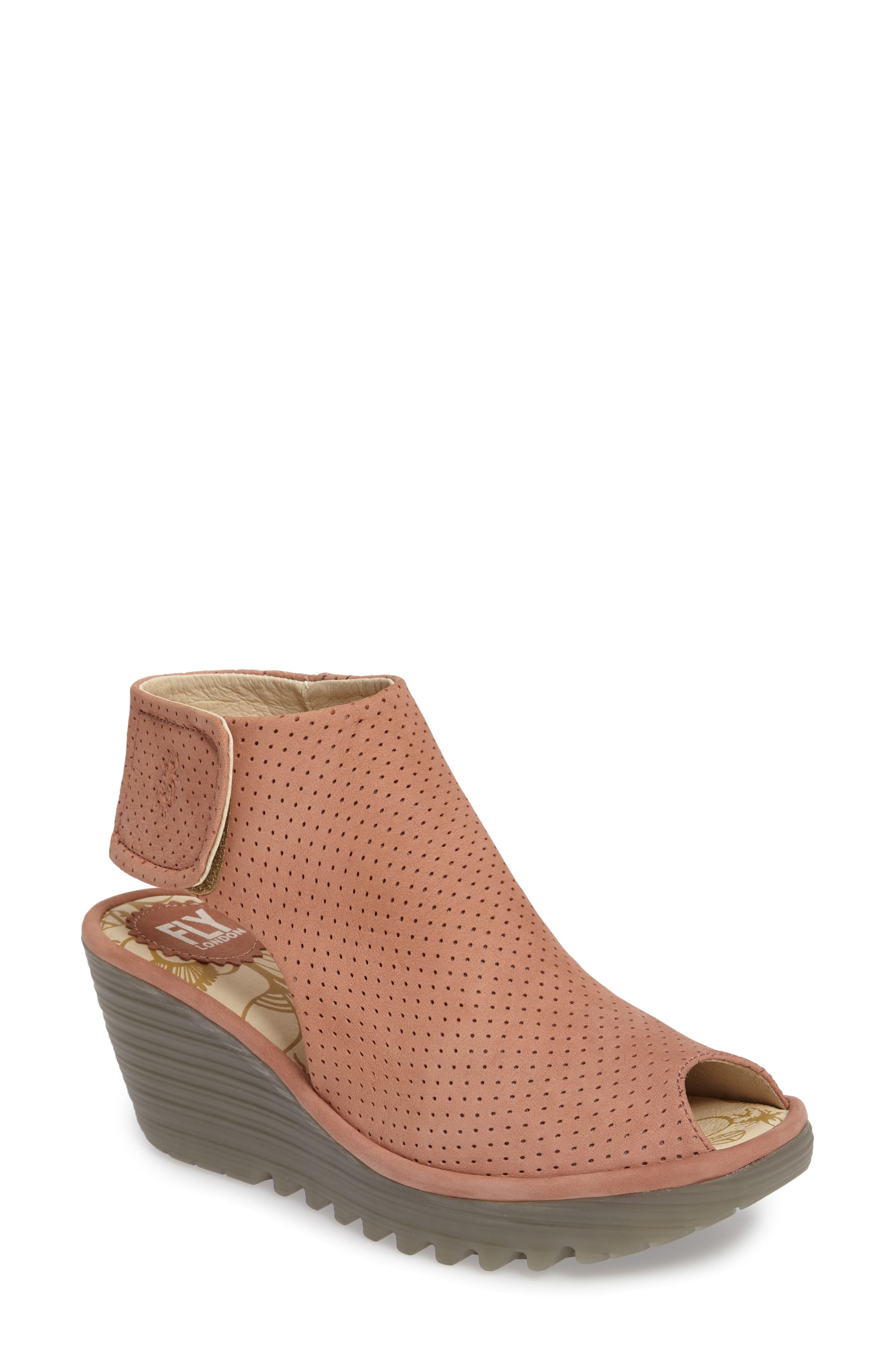 FLY LONDON Yahl Open Toe Platform Wedge