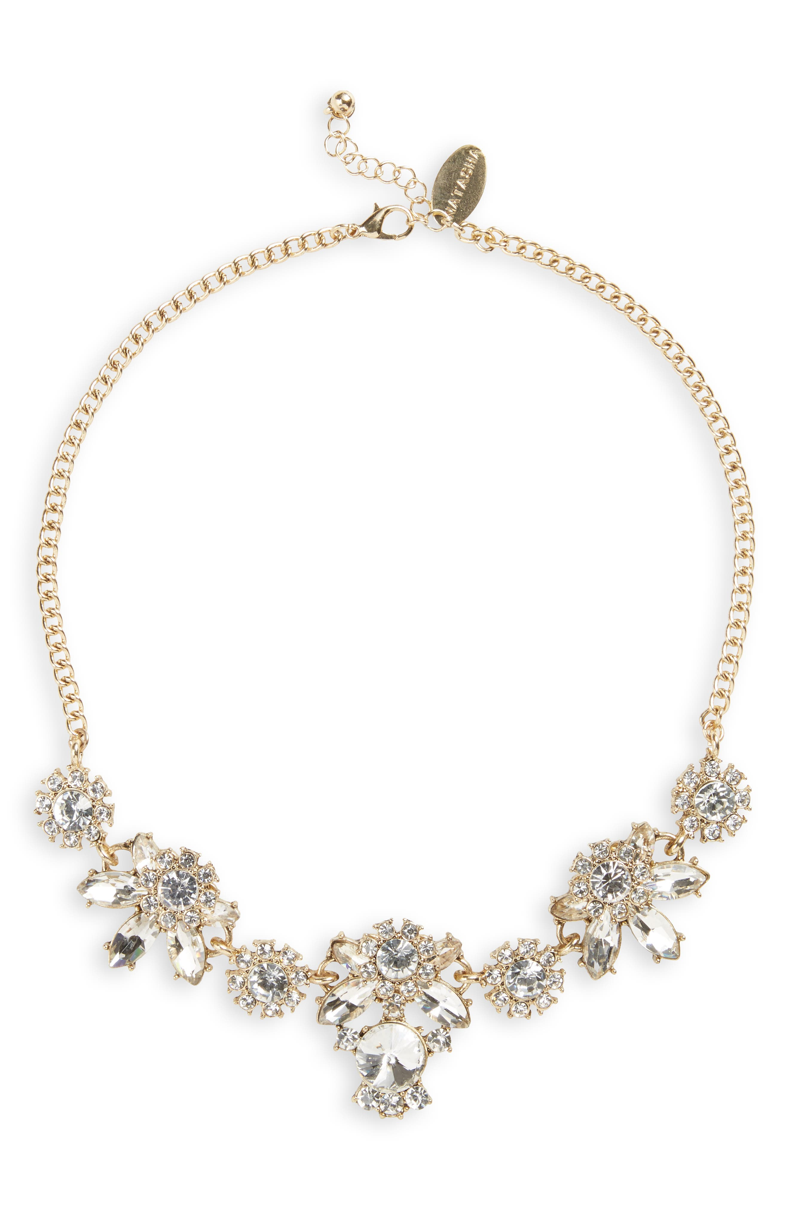 Main Image - Natasha Couture Crystal Statement Necklace