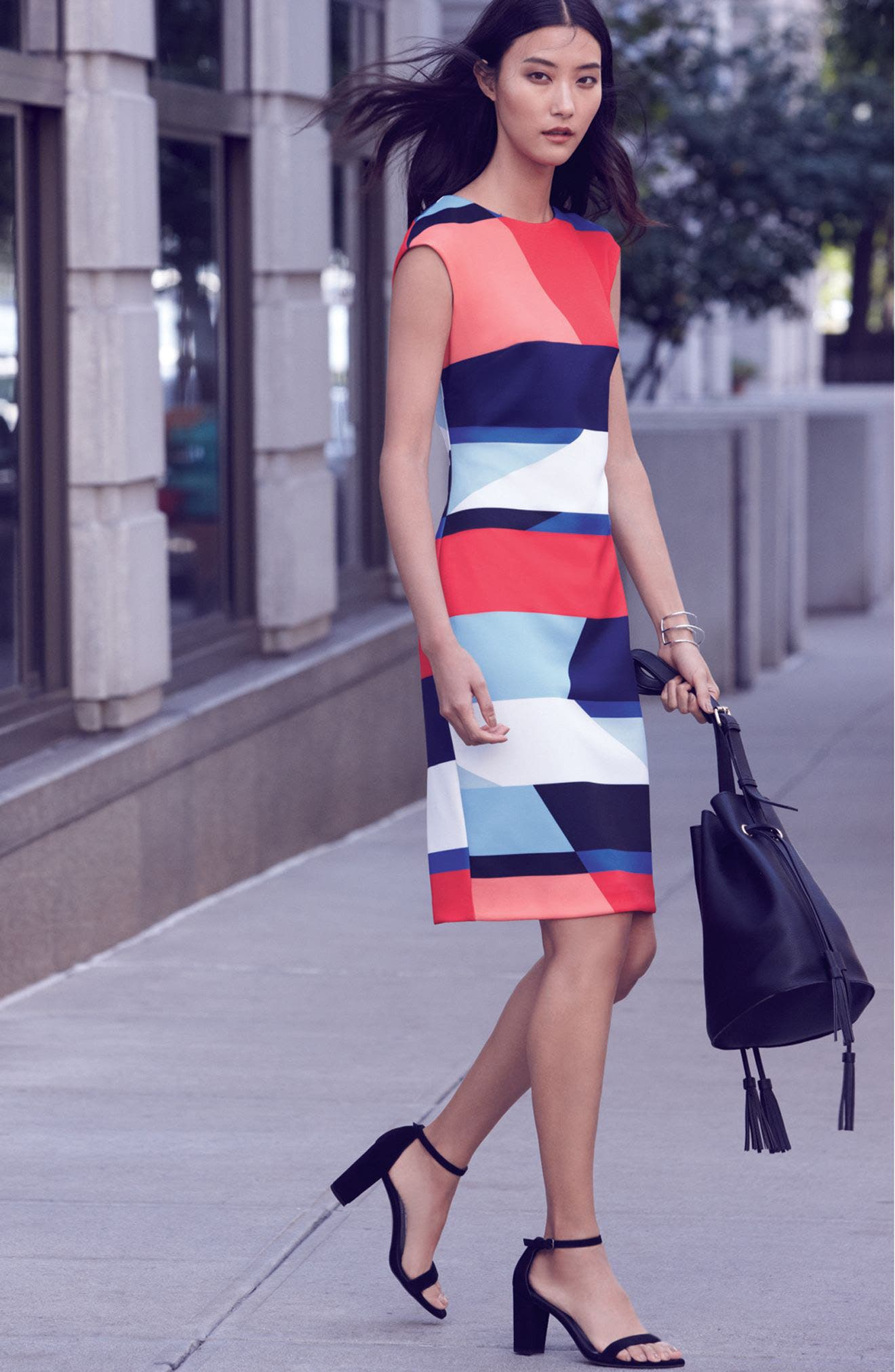 Vince Camuto Dress with Accessories