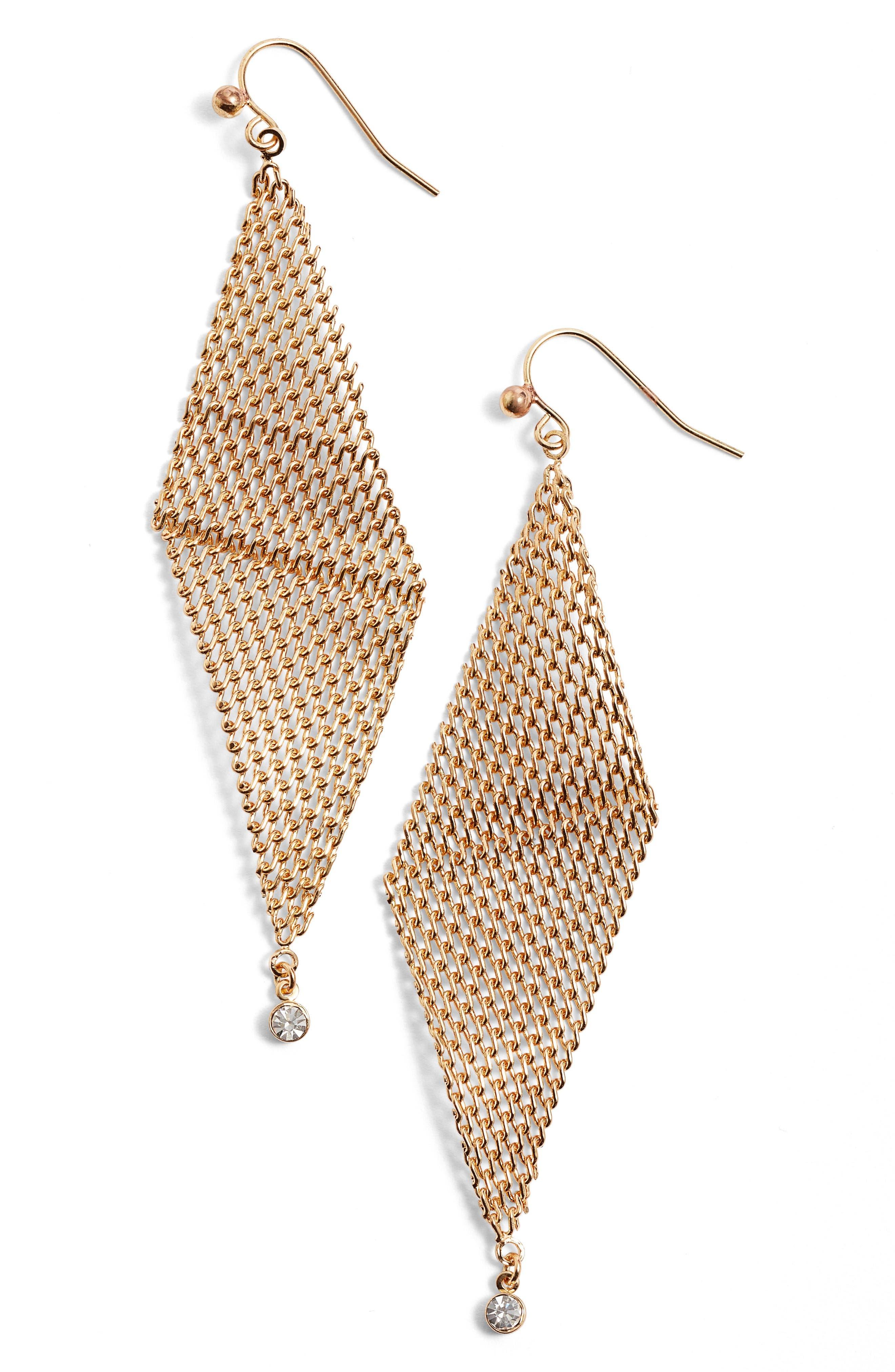 Jules Smith Crystal Mesh Earrings