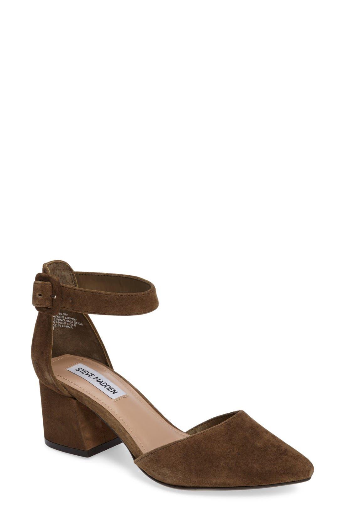 Steve Madden Dainna d'Orsay Ankle Strap Pump (Women)