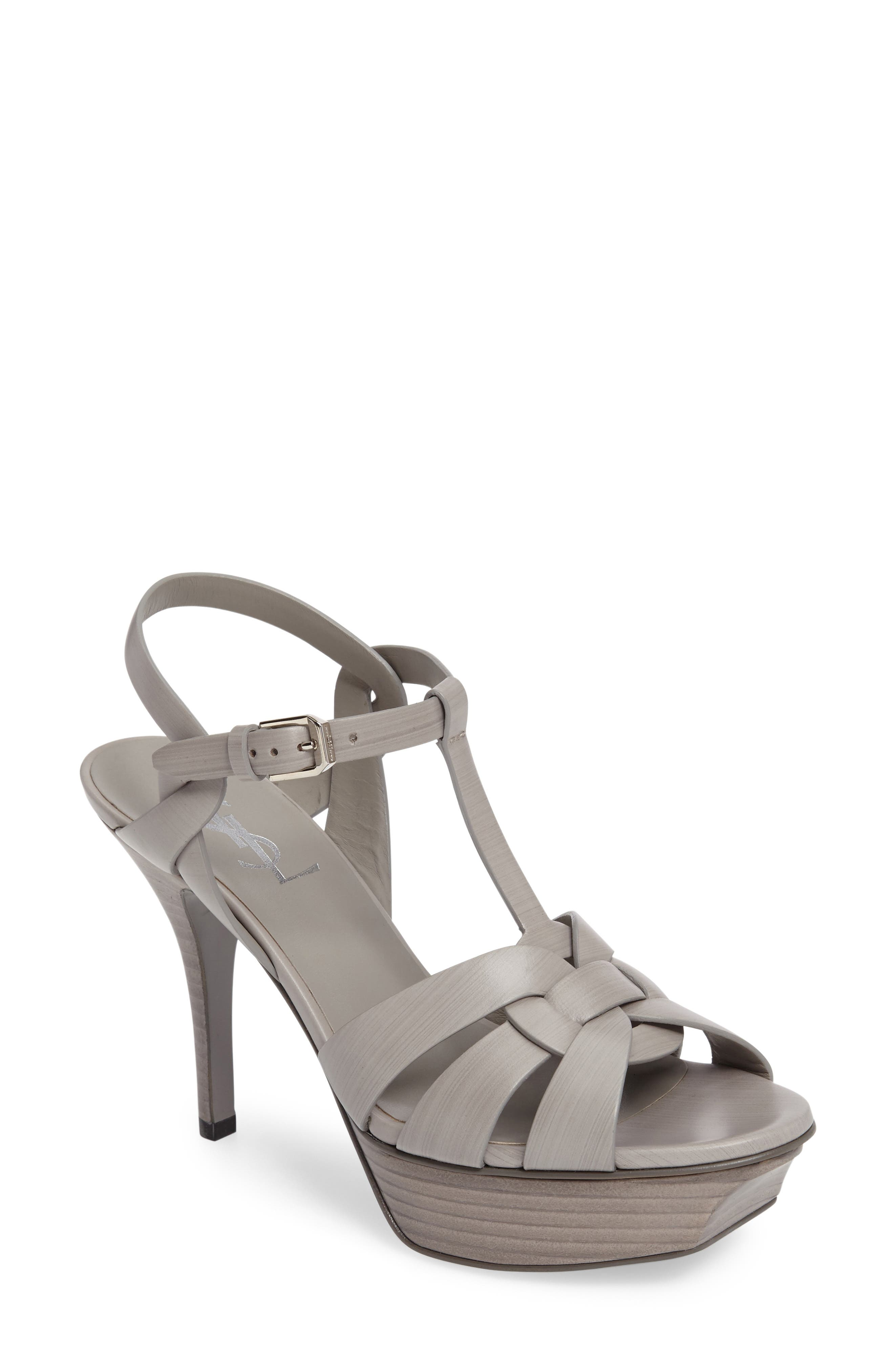 Saint Laurent Tribute T-Strap Sandal (Women)
