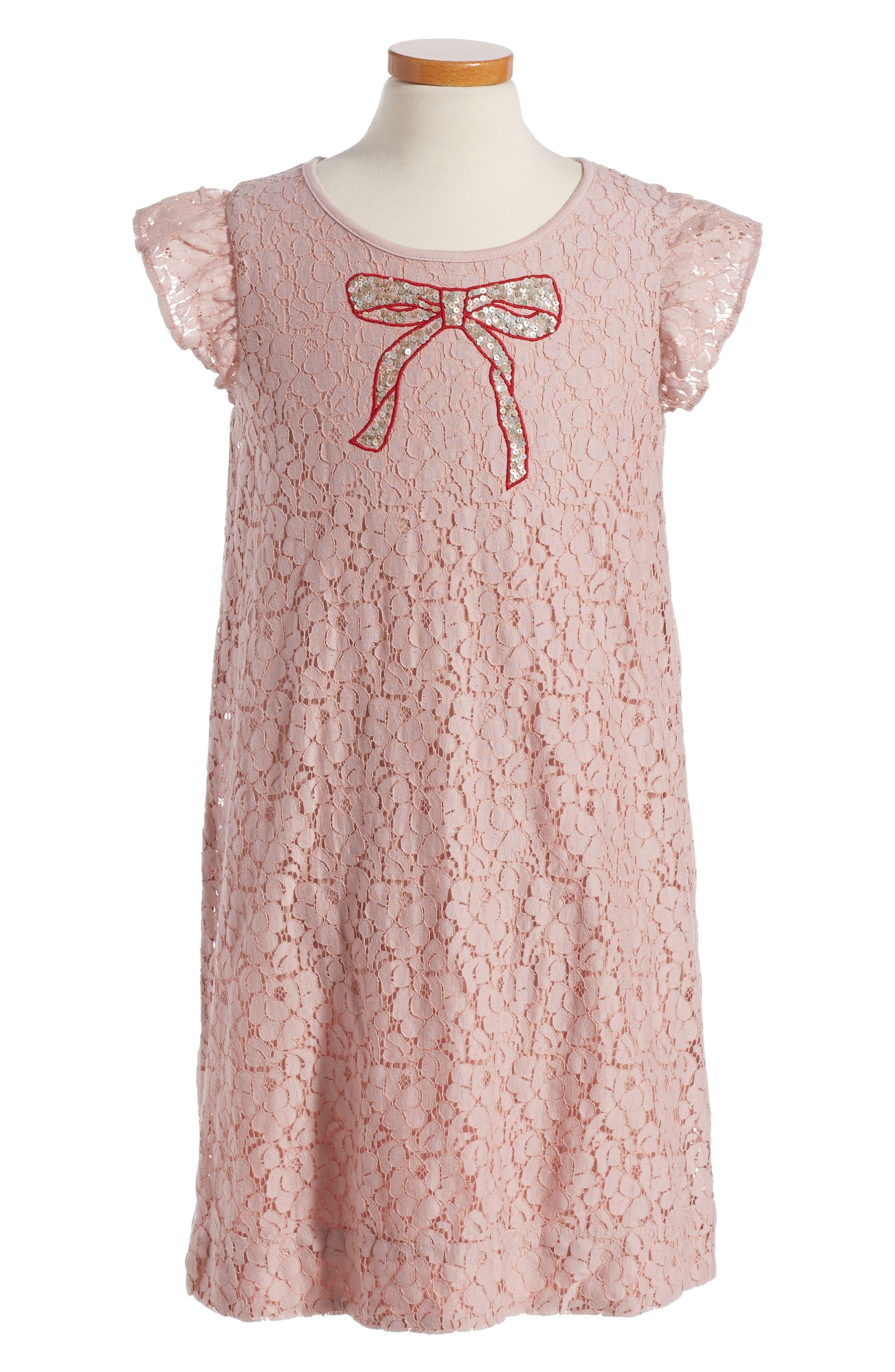 Mini Boden Sequin Bow Dress Toddler Girls Little Girls