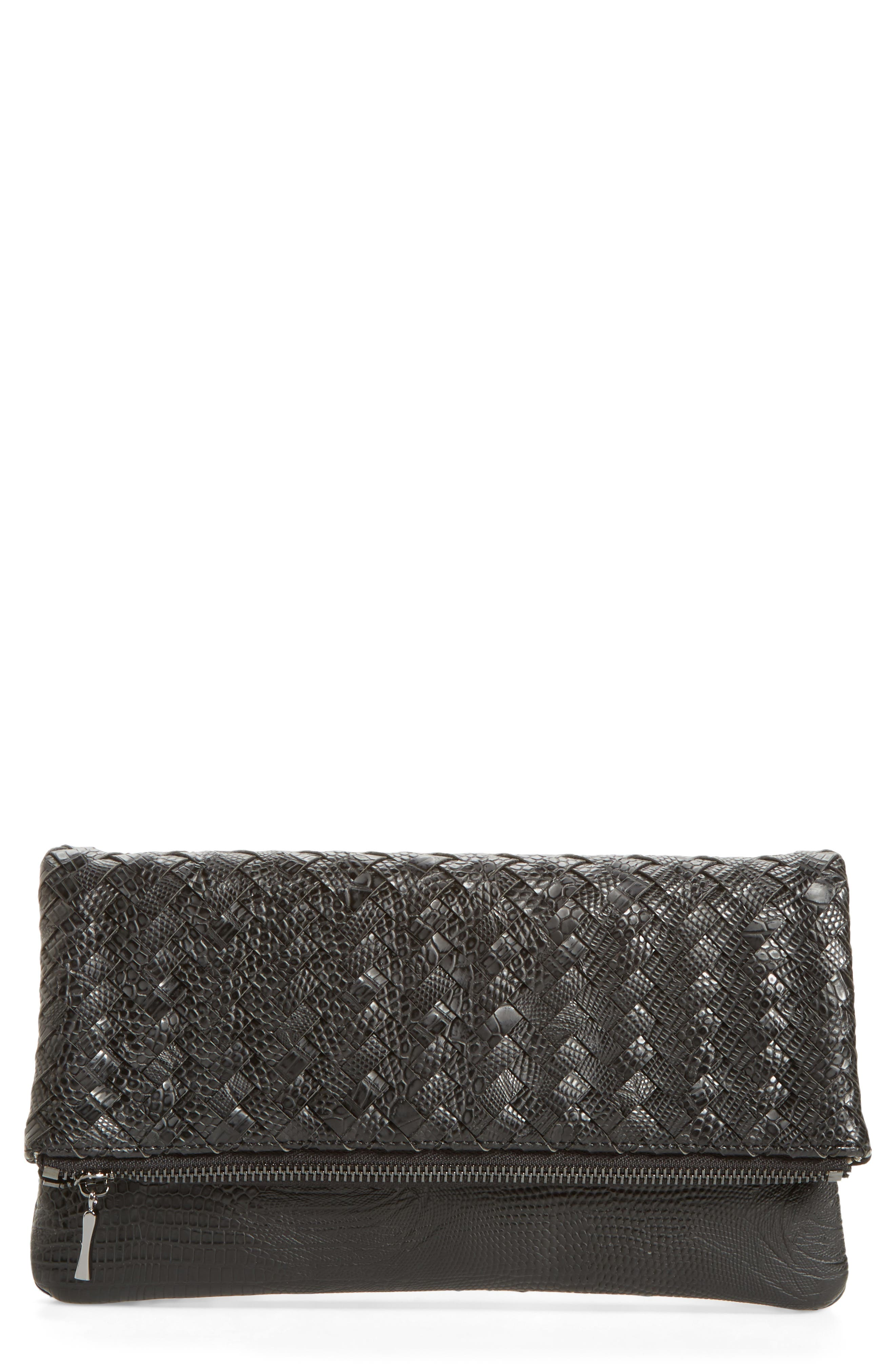 Main Image - Sole Society Kaya Crossweave Clutch