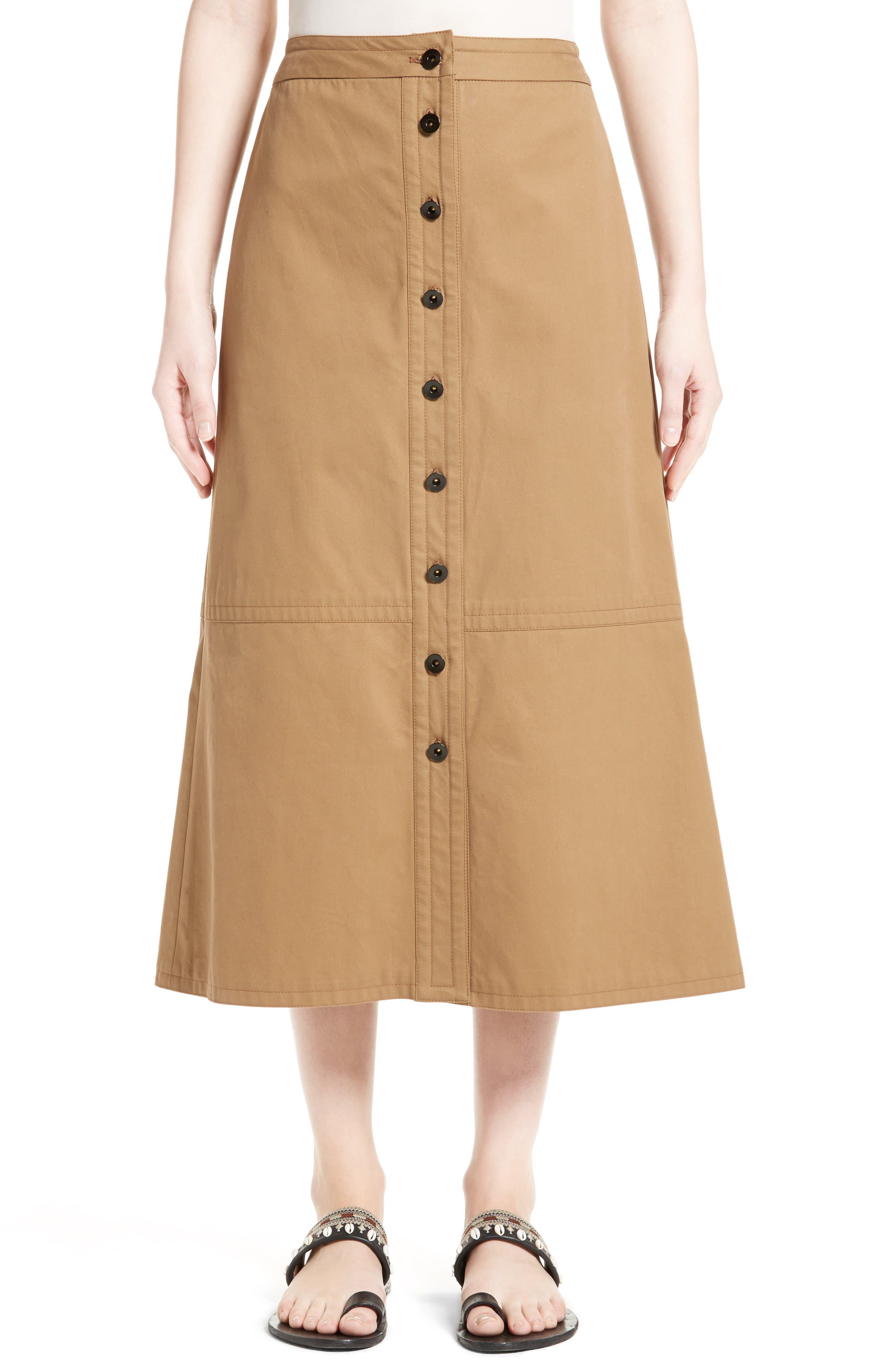 YIGAL AZROUËL Button Front Midi Skirt