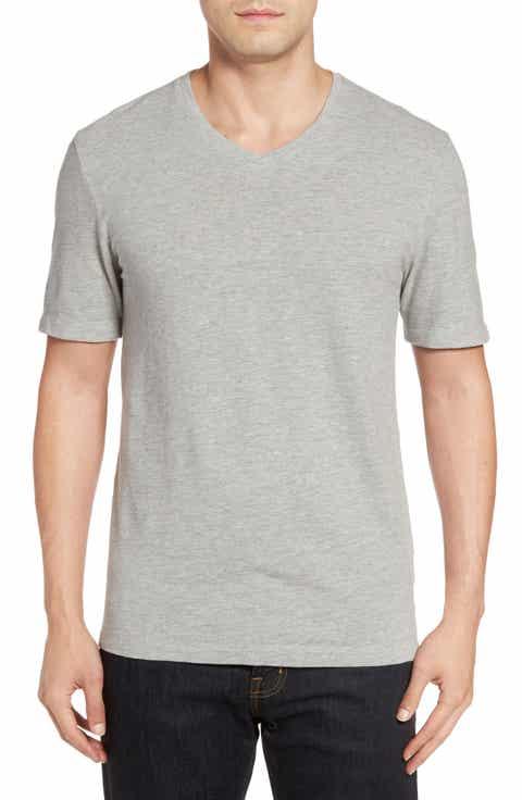Nordstrom Men's Shop Slub V-Neck T-Shirt (Regular)