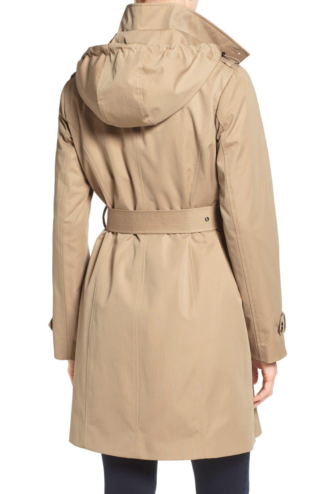 Alternate Image 2  - MICHAEL Michael Kors Hooded Trench Coat (Regular & Petite)