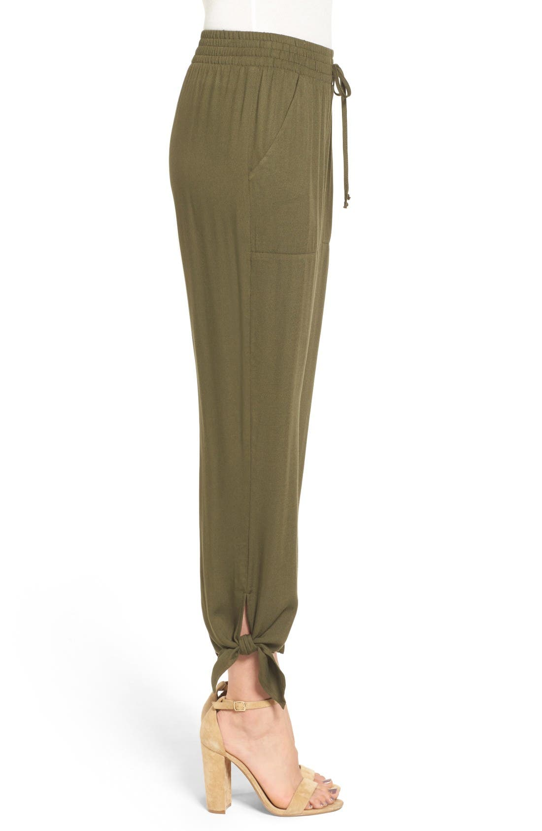 Alternate Image 4  - Socialite Ankle Tie Pants