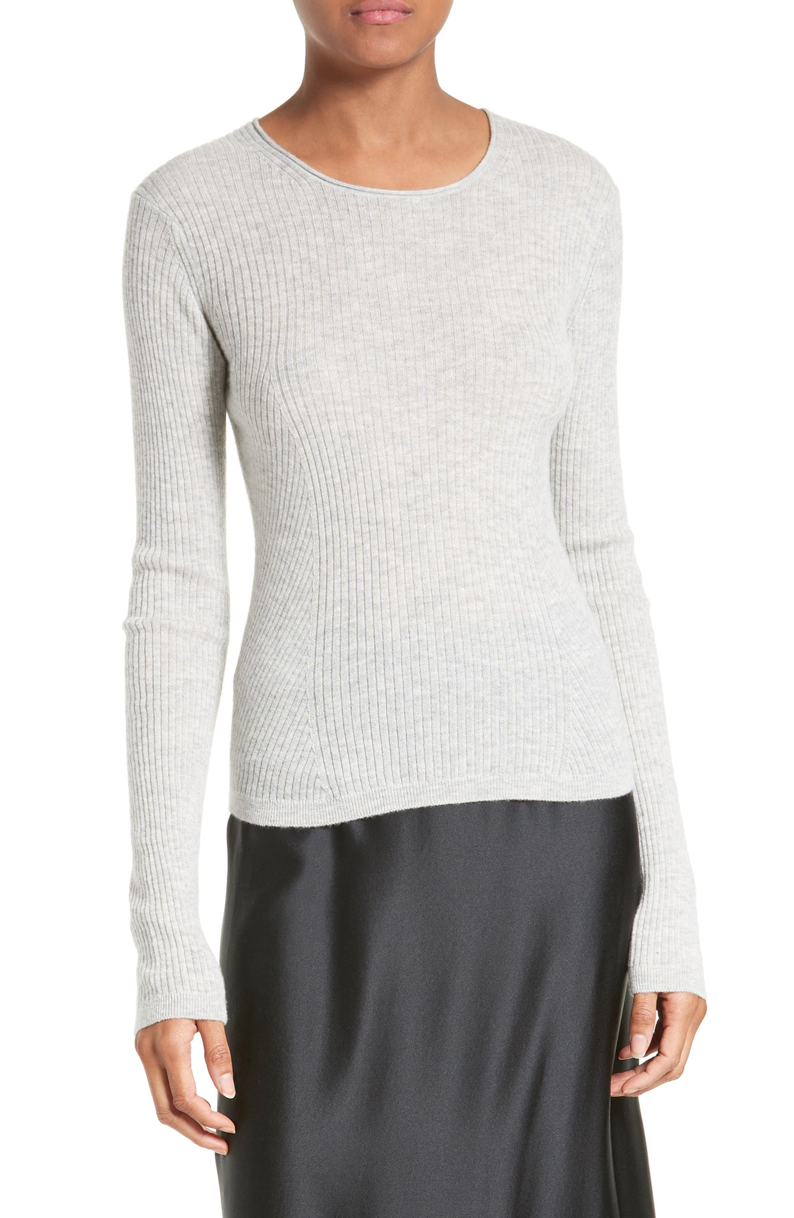 Vince Rib Cashmere Crop Pullover