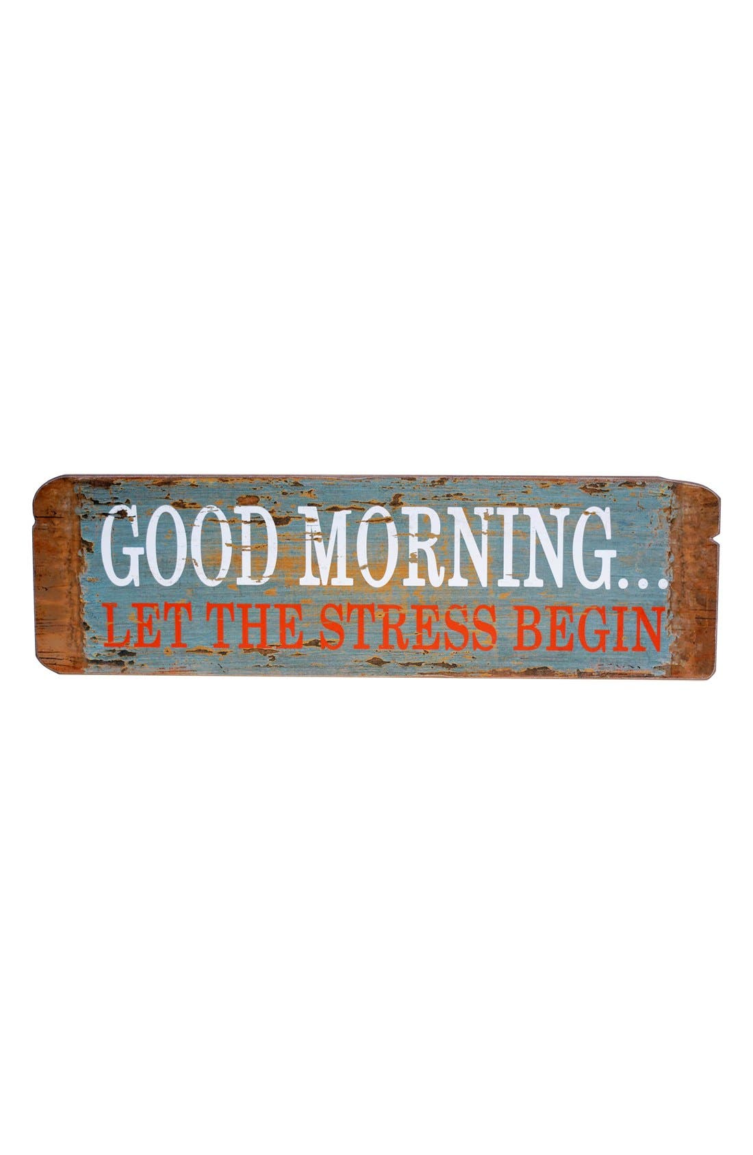 Alternate Image 1 Selected - VIP International 'Good Morning' Wooden Sign
