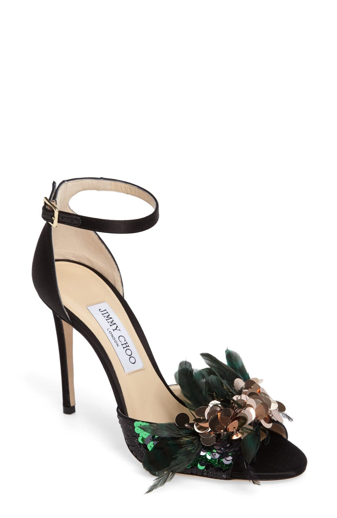 Alternate Image 1 Selected - Jimmy Choo Annie Ankle Strap Sandal (Women)