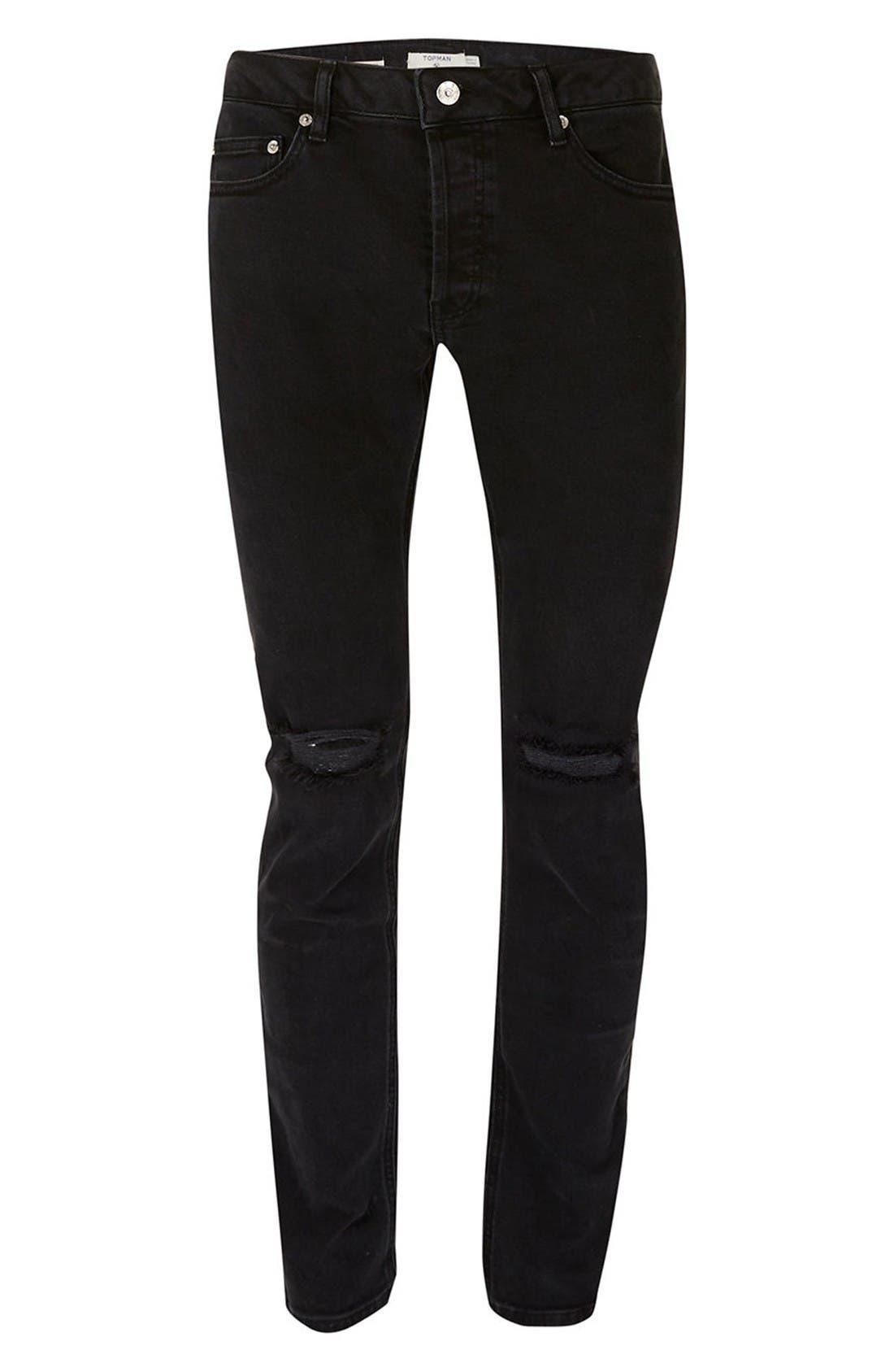 Alternate Image 6  - Topman Freeway Rip Slim Fit Jeans
