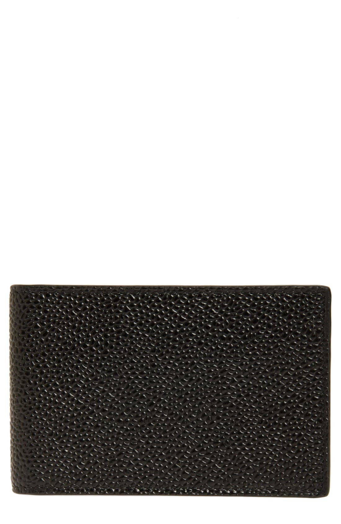 Thom Browne Pebbled Leather City Wallet