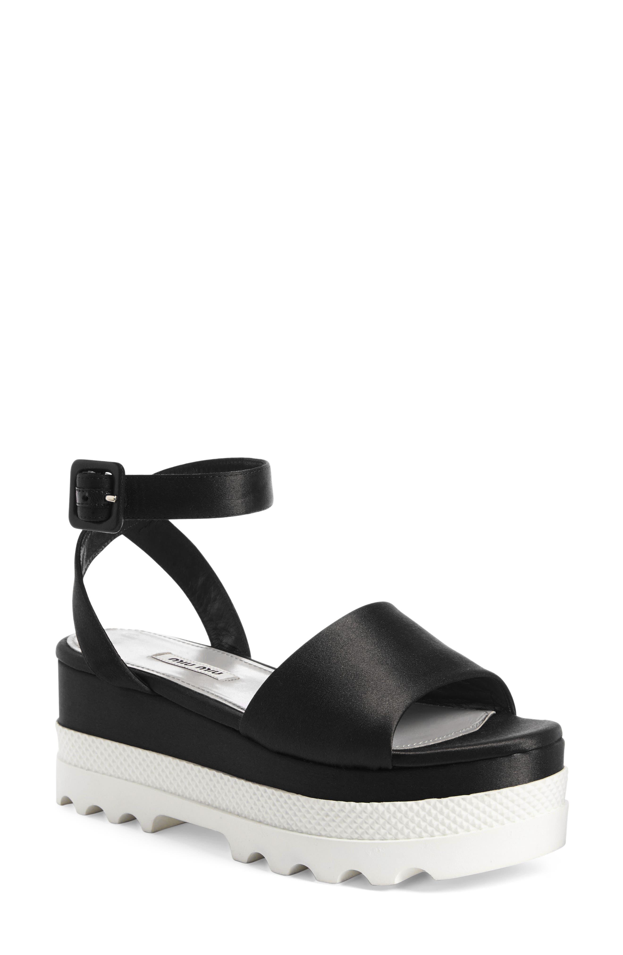 Miu Miu Platform Sandal (Women)