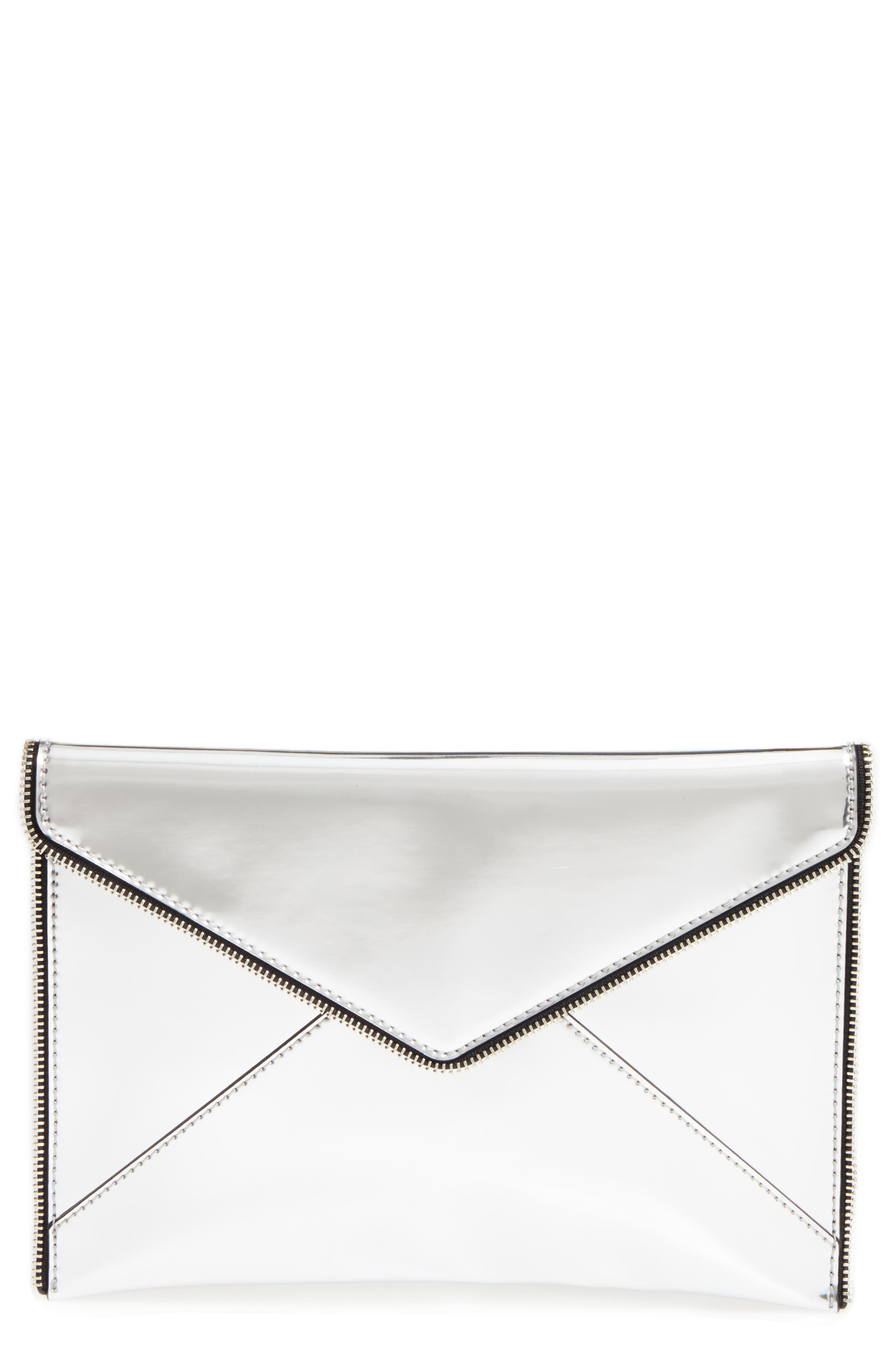 Alternate Image 1 Selected - Rebecca Minkoff Mirrored Leo Clutch