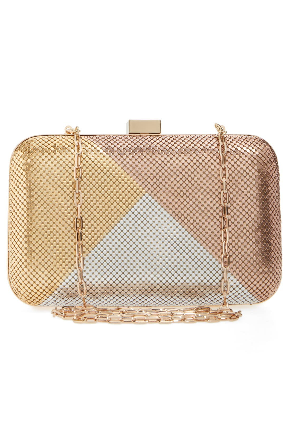 Alternate Image 3  - Whiting & Davis Color Block Mesh Box Clutch