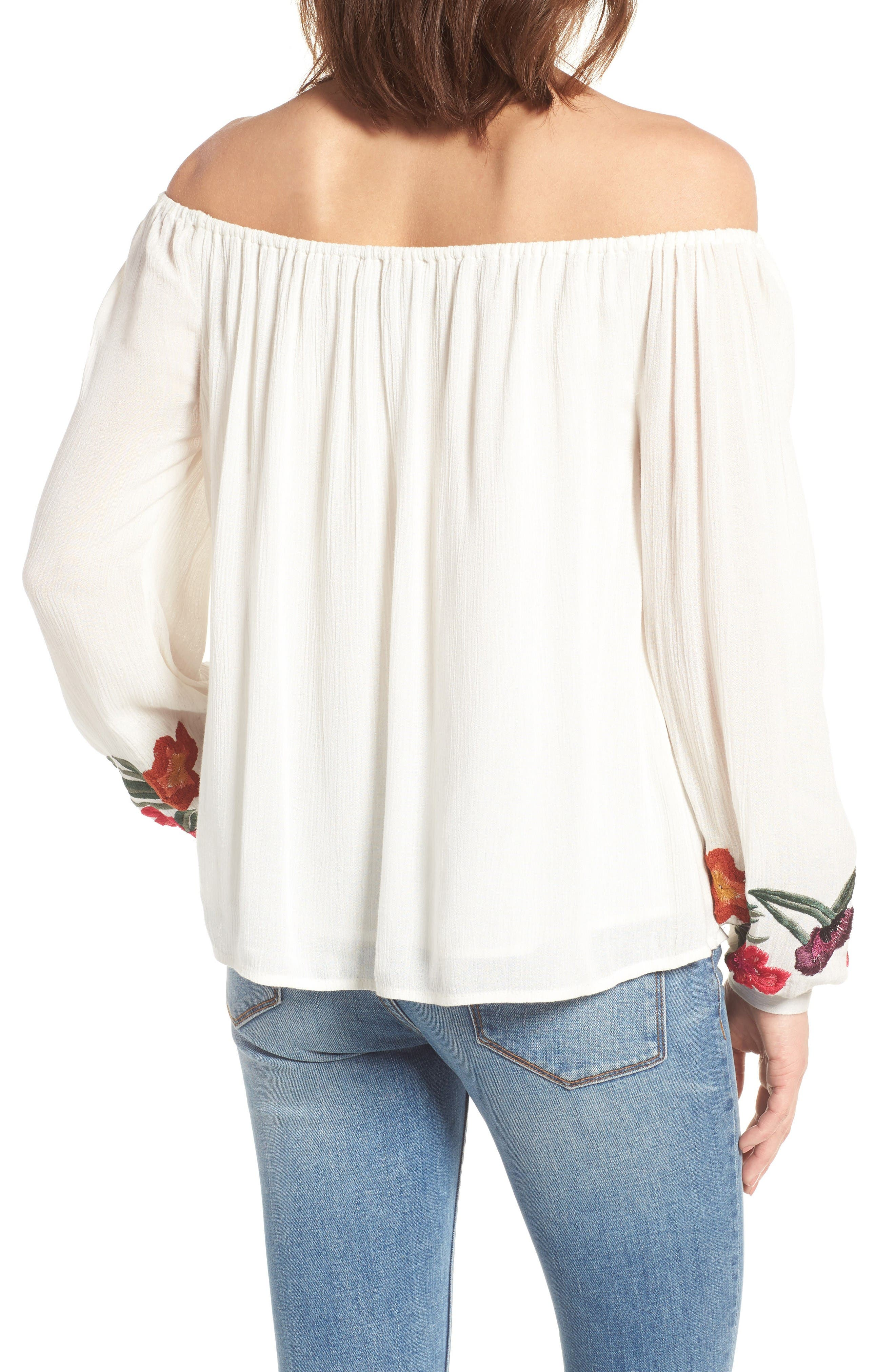 Alternate Image 3  - Lovers + Friends Over the Sea Off the Shoulder Blouse