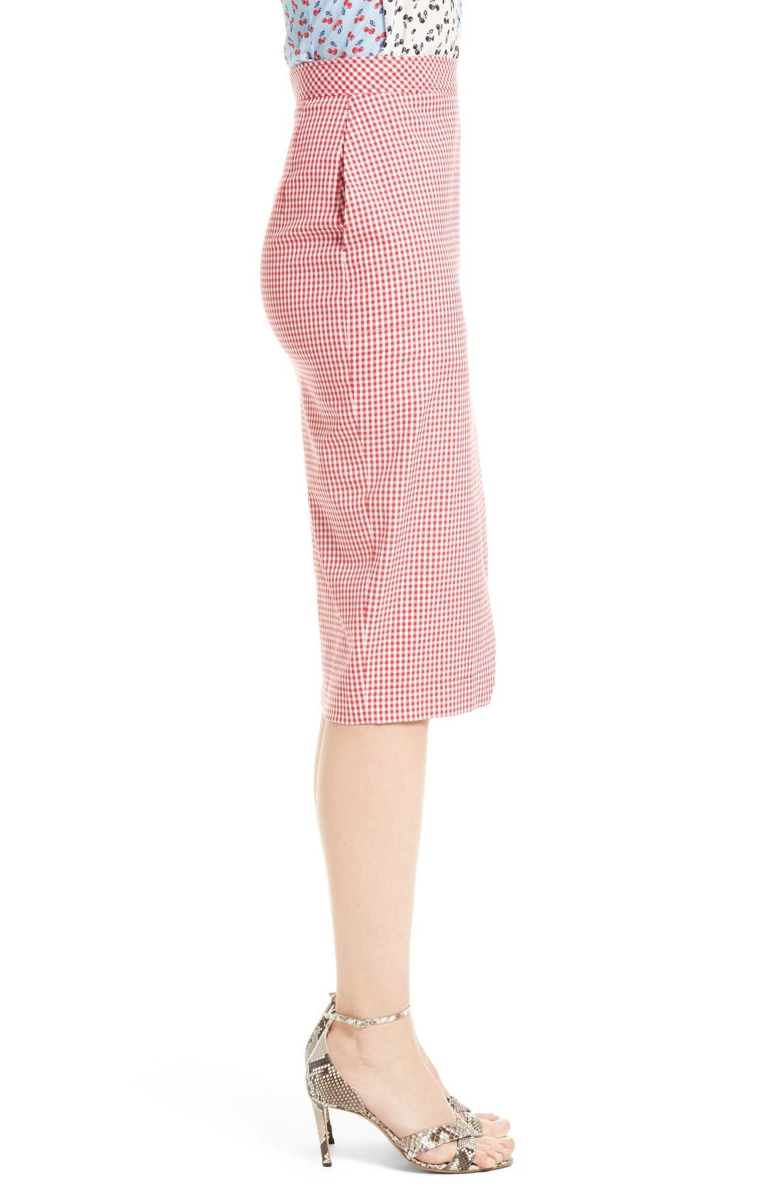 Alternate Image 5  - Altuzarra Wilcox Gingham Stretch Cotton Skirt
