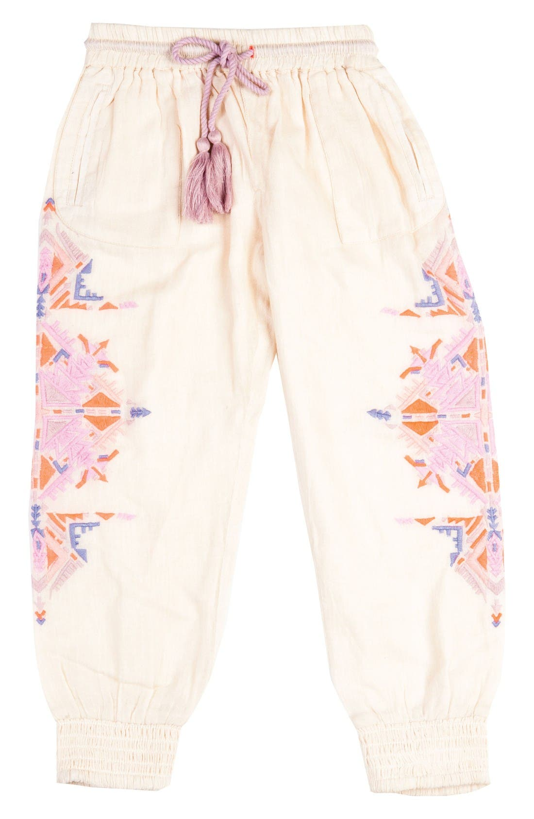 Bowie James Running Deer Embroidered Pants (Toddler Girls, Little Girls & Big Girls)