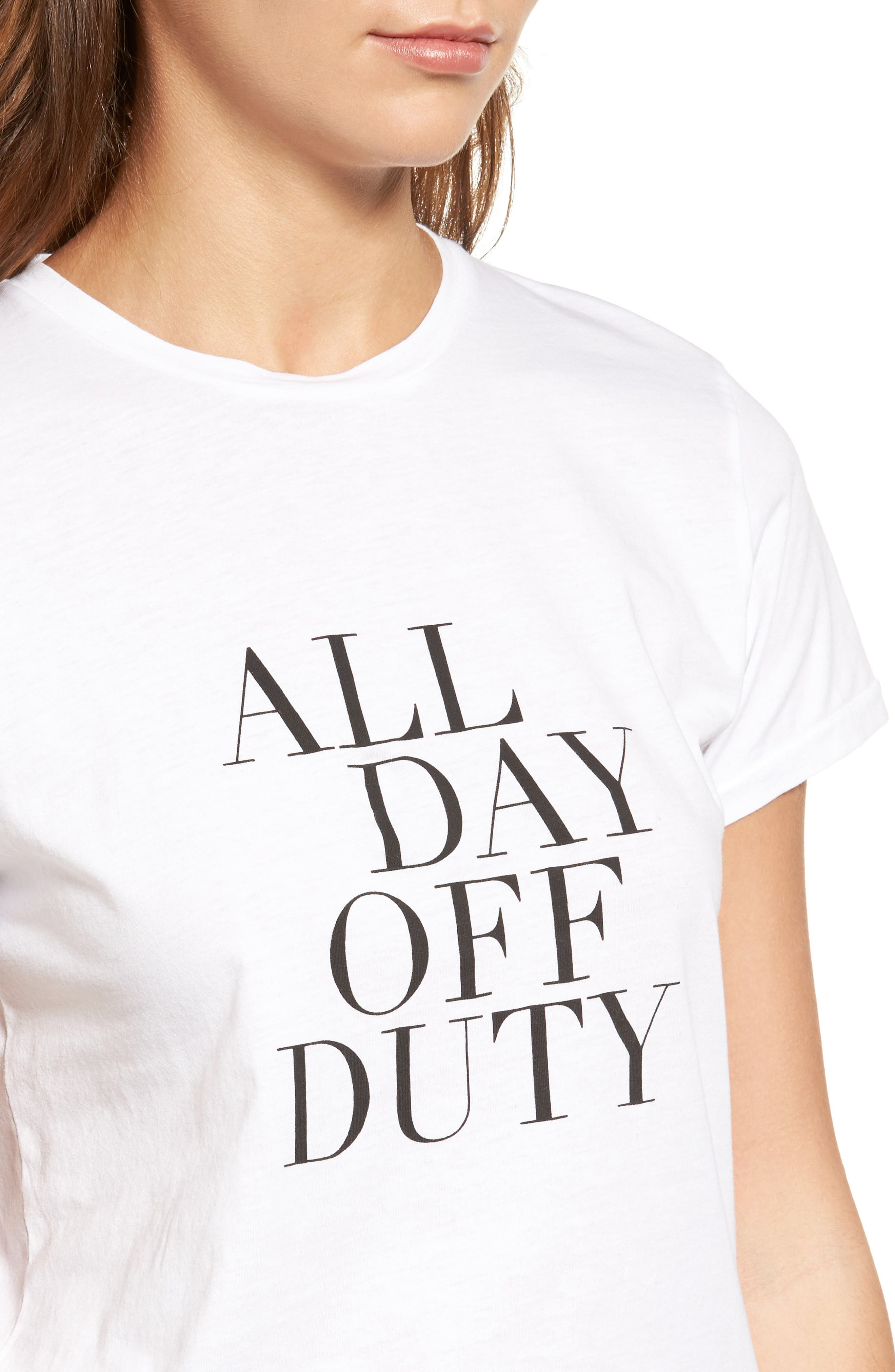 Alternate Image 4  - Sincerely Jules All Day Off Duty Cotton Tee