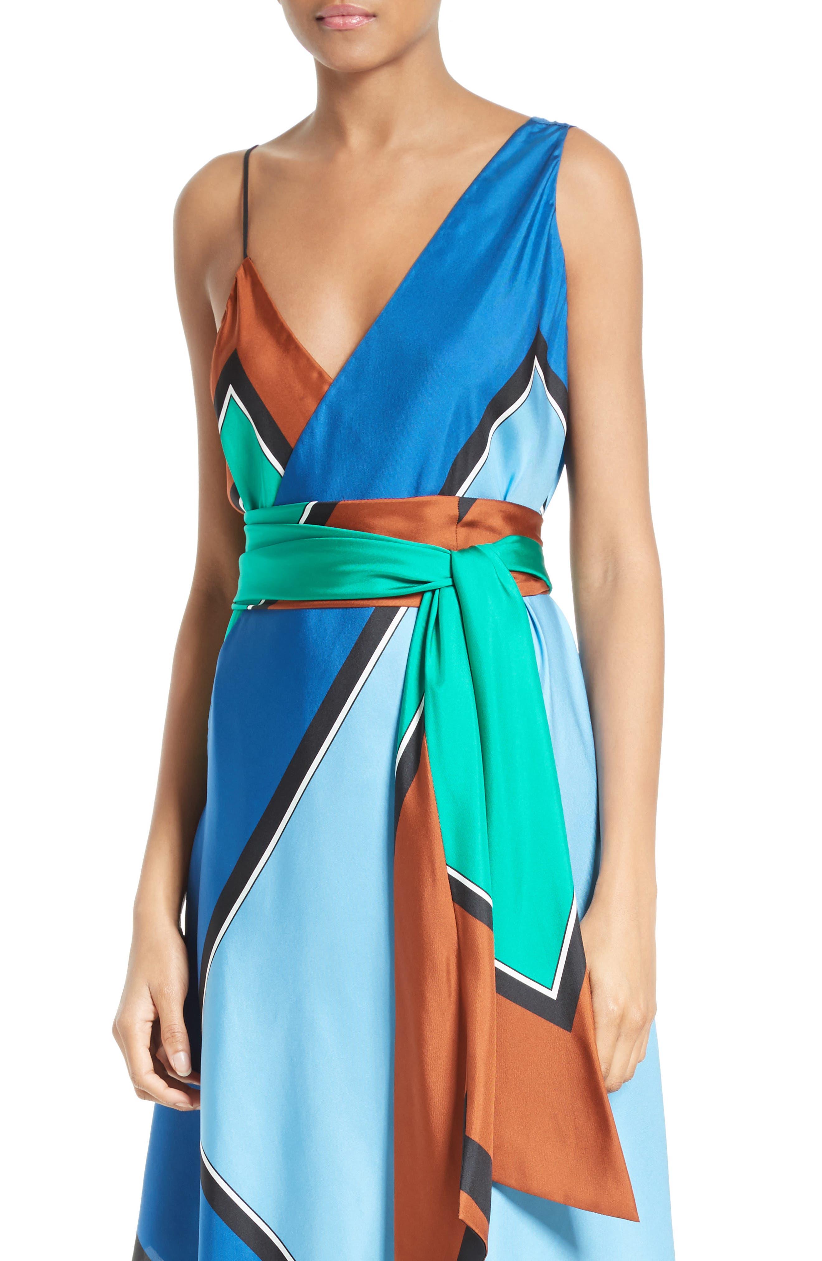 Alternate Image 4  - Diane von Furstenberg Scarf Hem Silk Maxi Dress