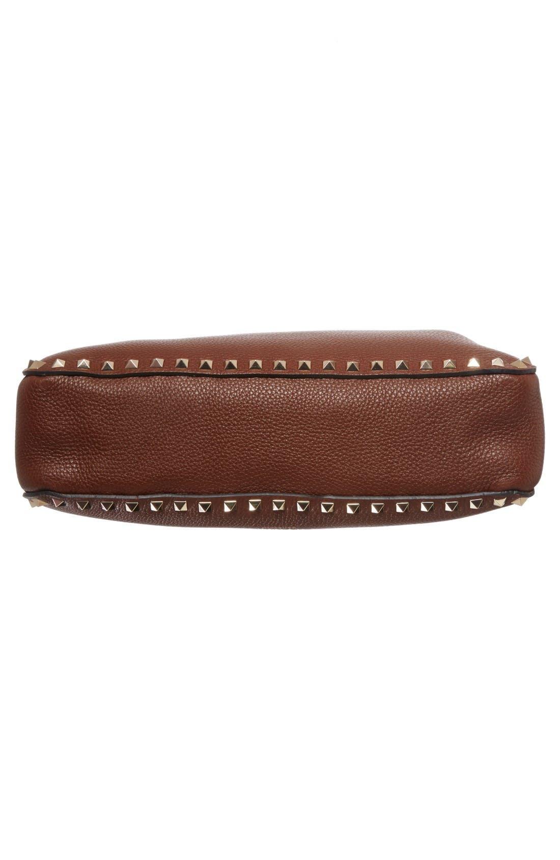 Alternate Image 5  - Valentino Vitello Rockstud Leather Hobo